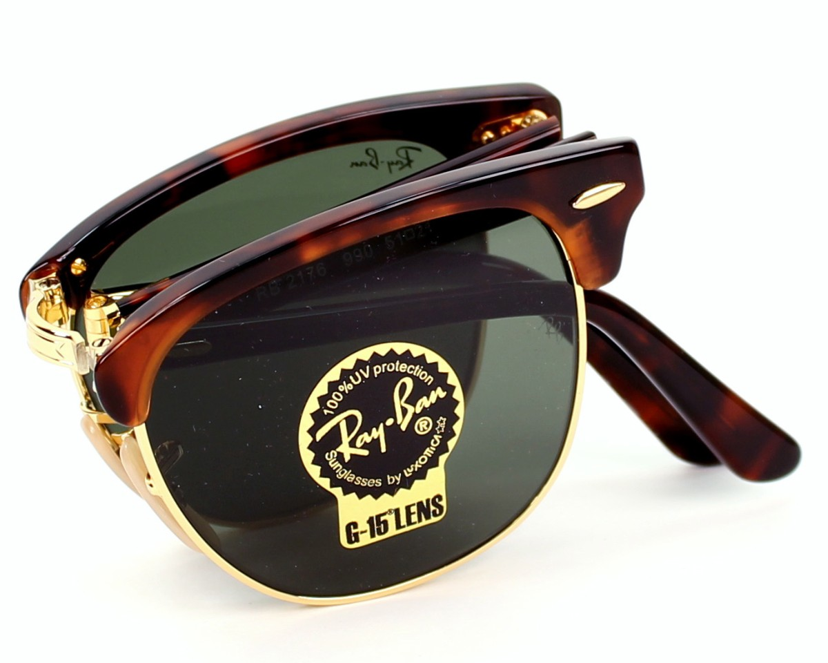 3f1ff385561 Sunglasses Ray-Ban RB-2176 990 51-21 Havana Gold profile view