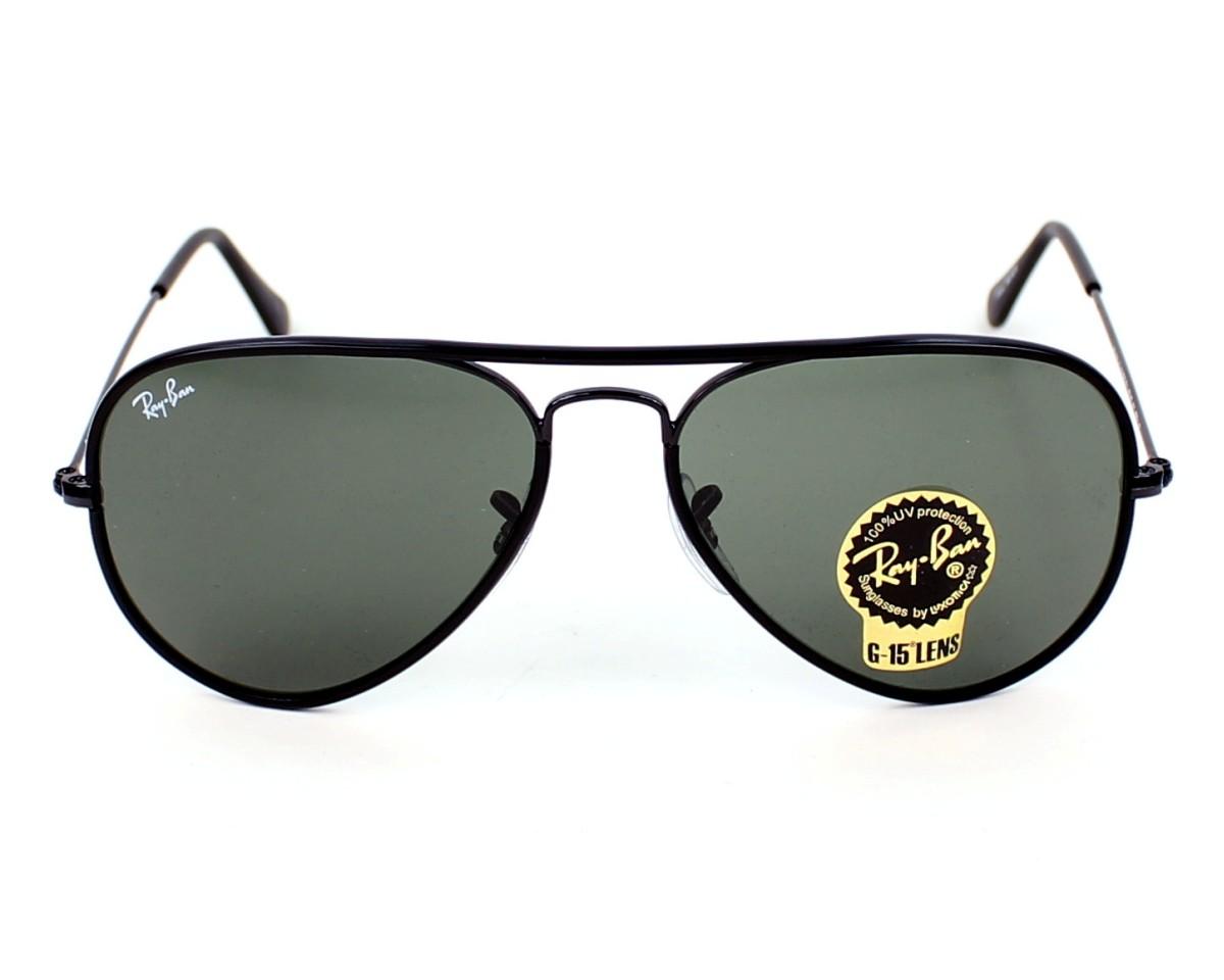 1100cbdbb1 thumbnail Sunglasses Ray-Ban RB-3025-JM 002 - Black front view