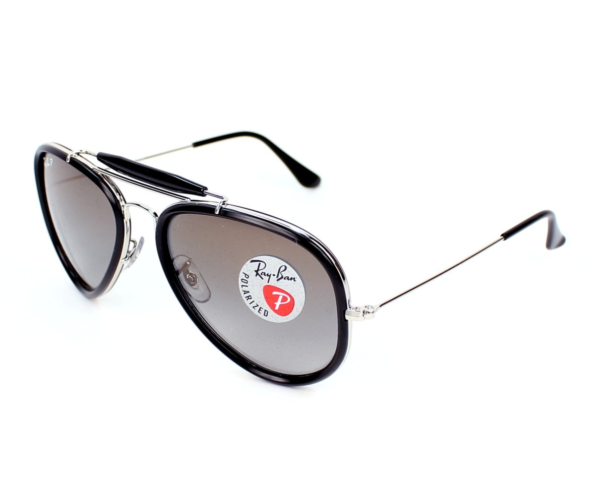 b55570a5f0 thumbnail Sunglasses Ray-Ban RB-3428 003 3M - Silver Black profile view