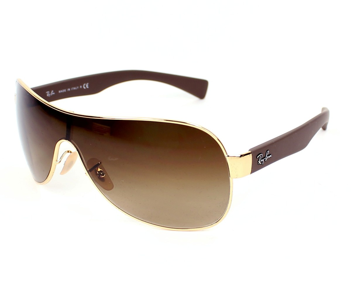 90e8403dff Sunglasses Ray-Ban RB-3471 001 13 32- Gold Brown profile view