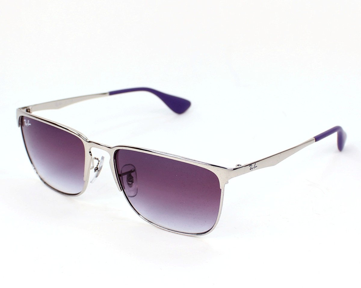 e15f822da03 thumbnail Sunglasses Ray-Ban RB-3508 003 8H - Silver profile view