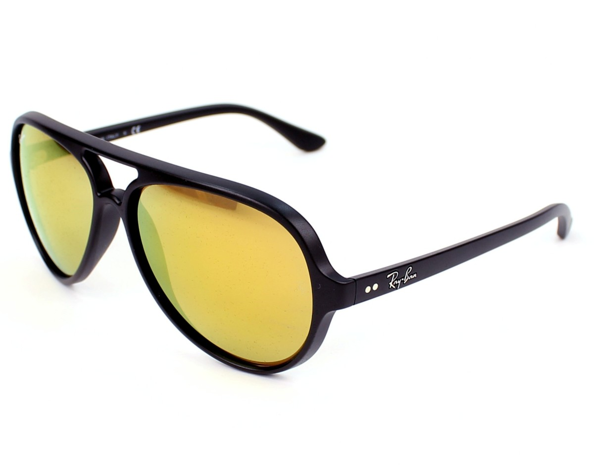 ray ban rb4125 cats sunglasses shiny black frame