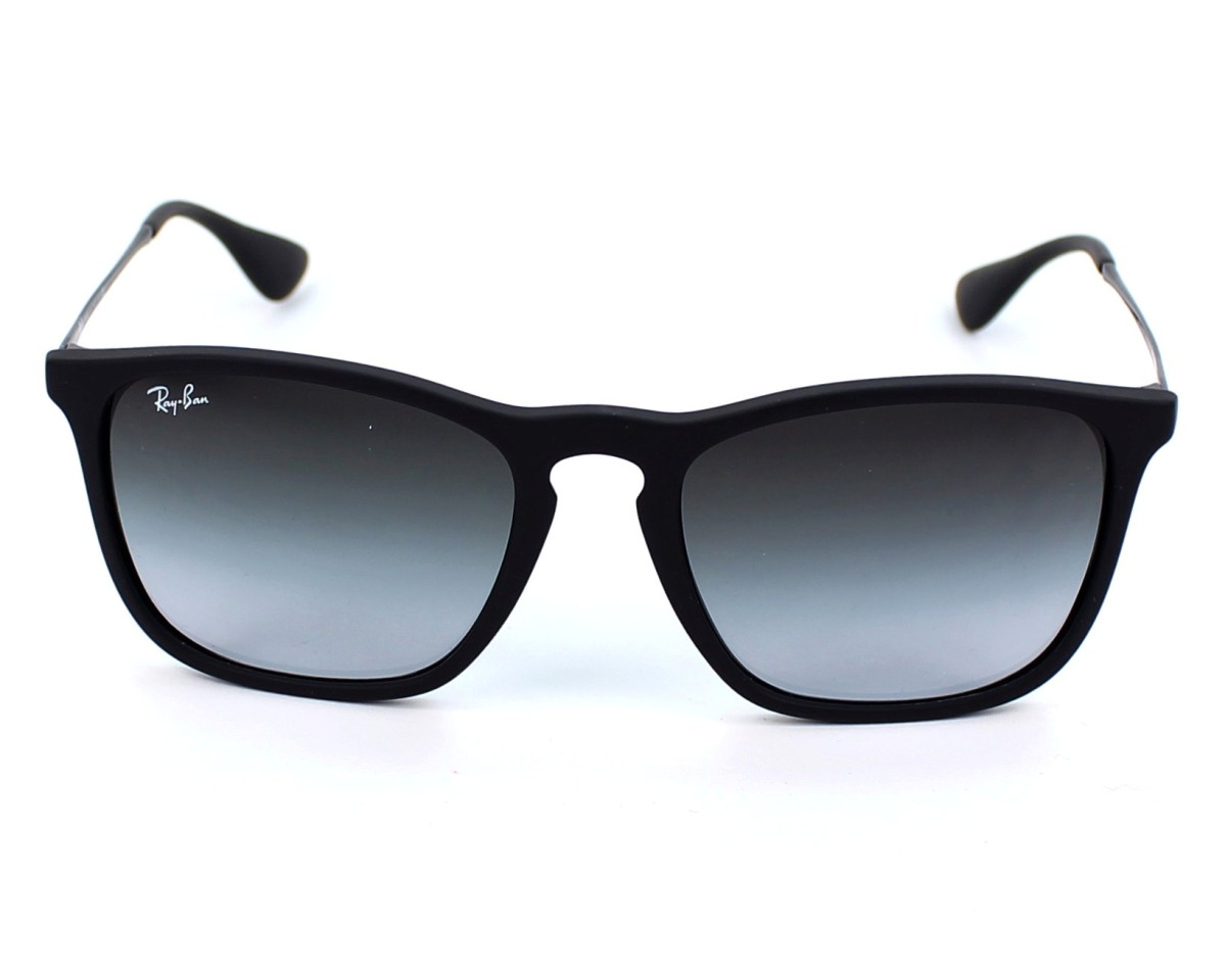 Sunglasses Ray-Ban RB-4187 622 8G 54-18 Black front view 780ff1b0749