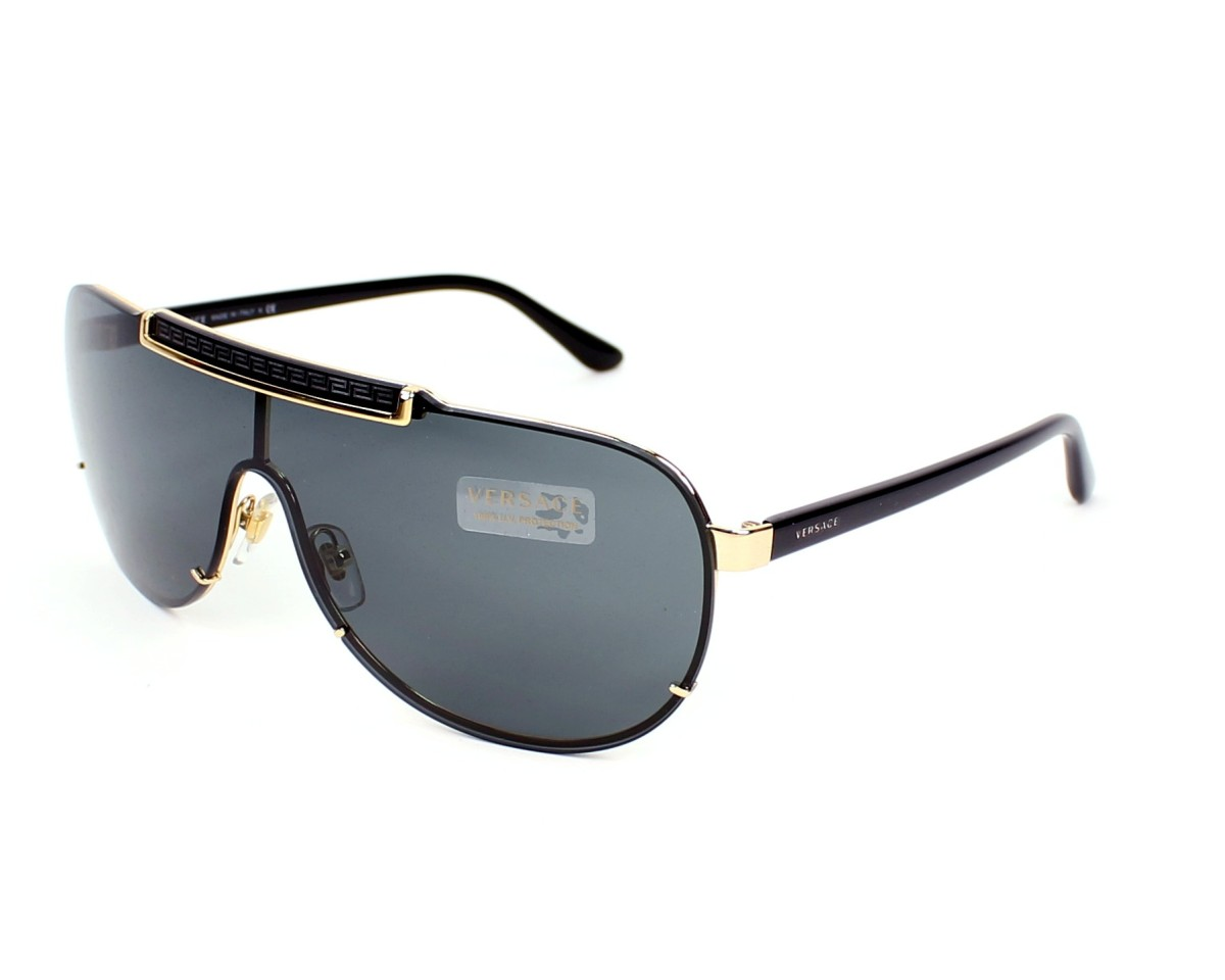 80aec7b1c8 Sunglasses Versace VE-2140 1002 87 40- Black Gold profile view