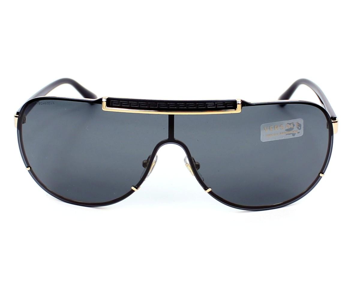 7686f44d232 Sunglasses Versace VE-2140 1002 87 40- Black Gold front view