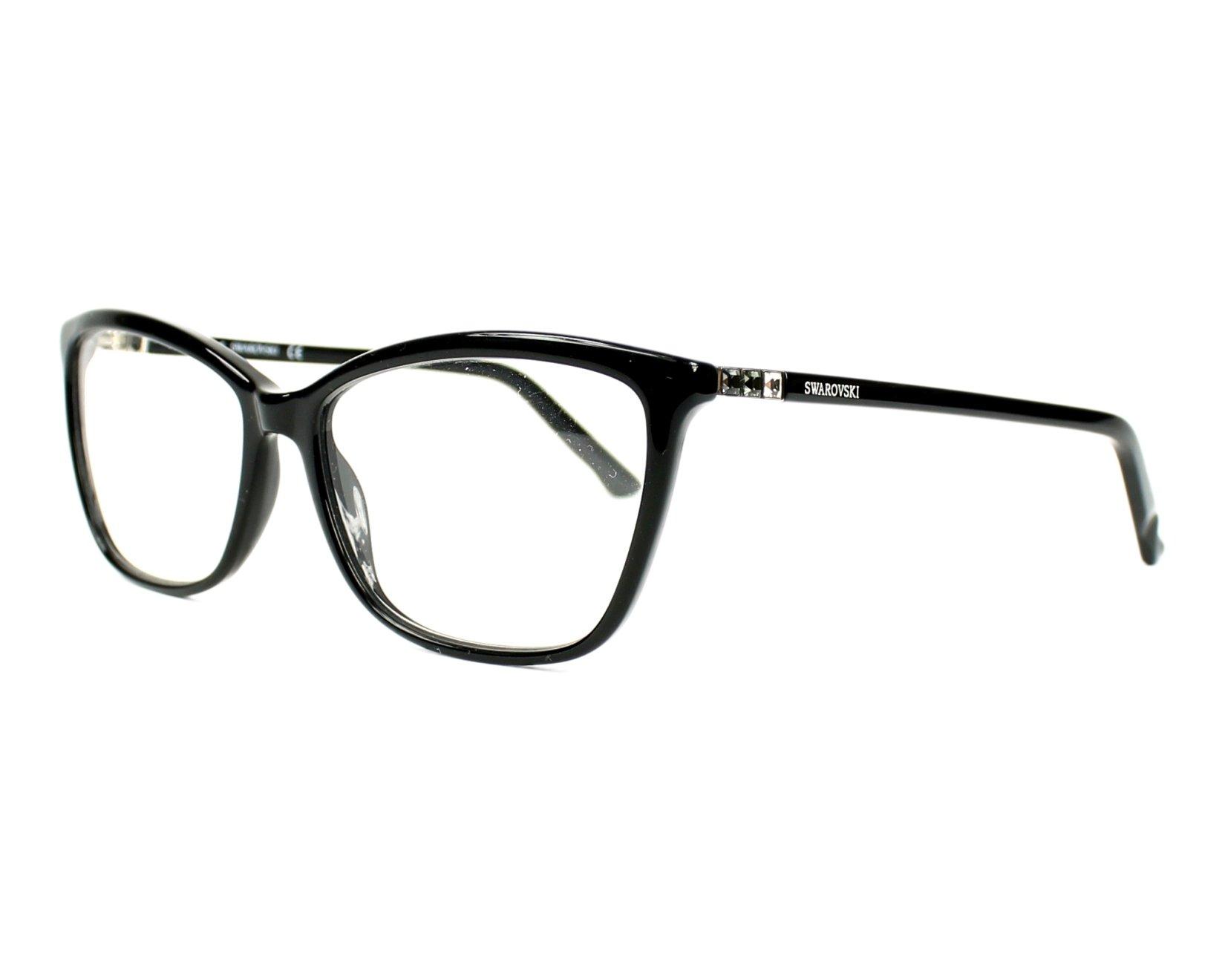 a0252ffefb3 eyeglasses Swarovski SW-5137 001 - Black Silver profile view
