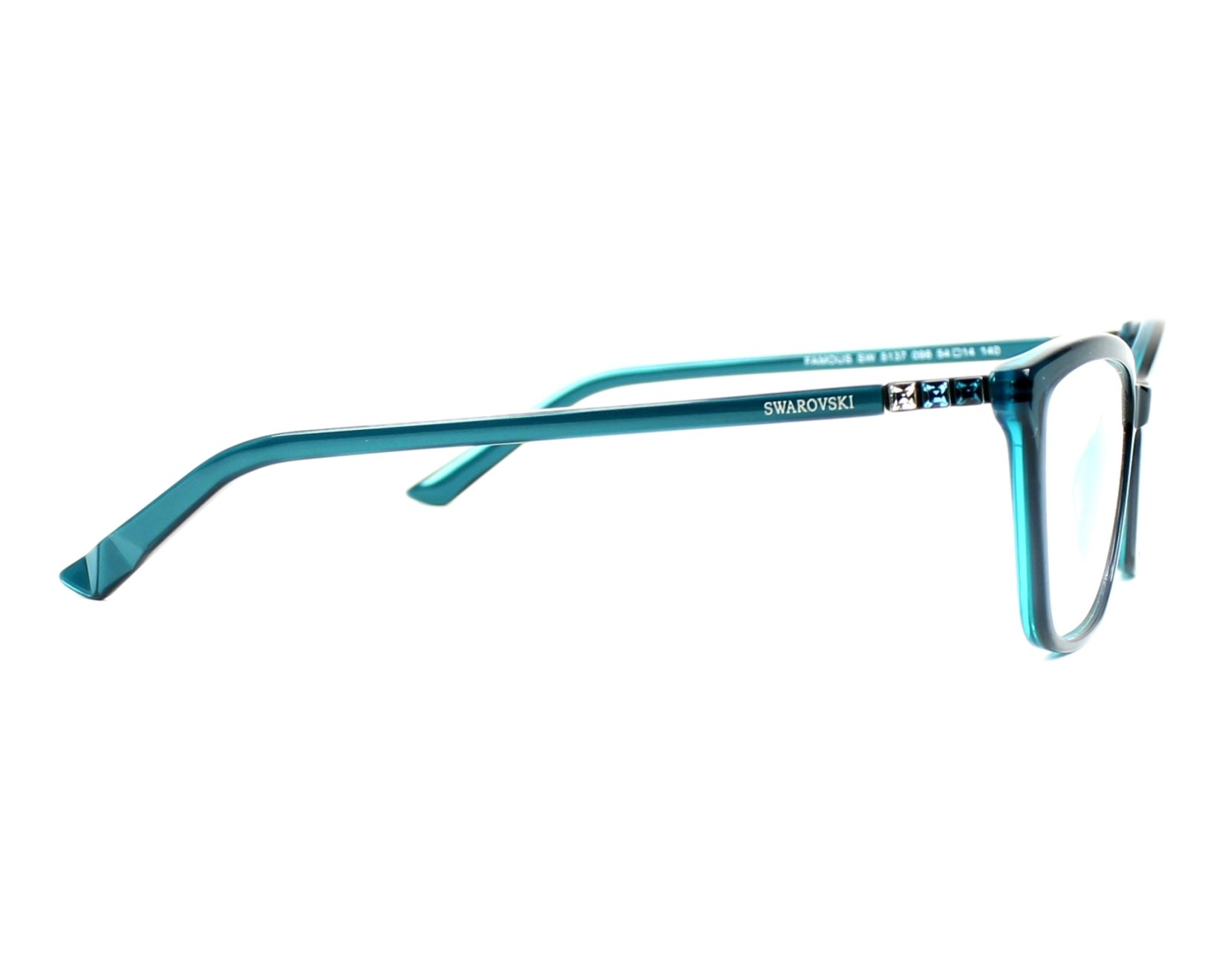 fca08e9499b eyeglasses Swarovski SW-5137 098 54-14 Green Green side view