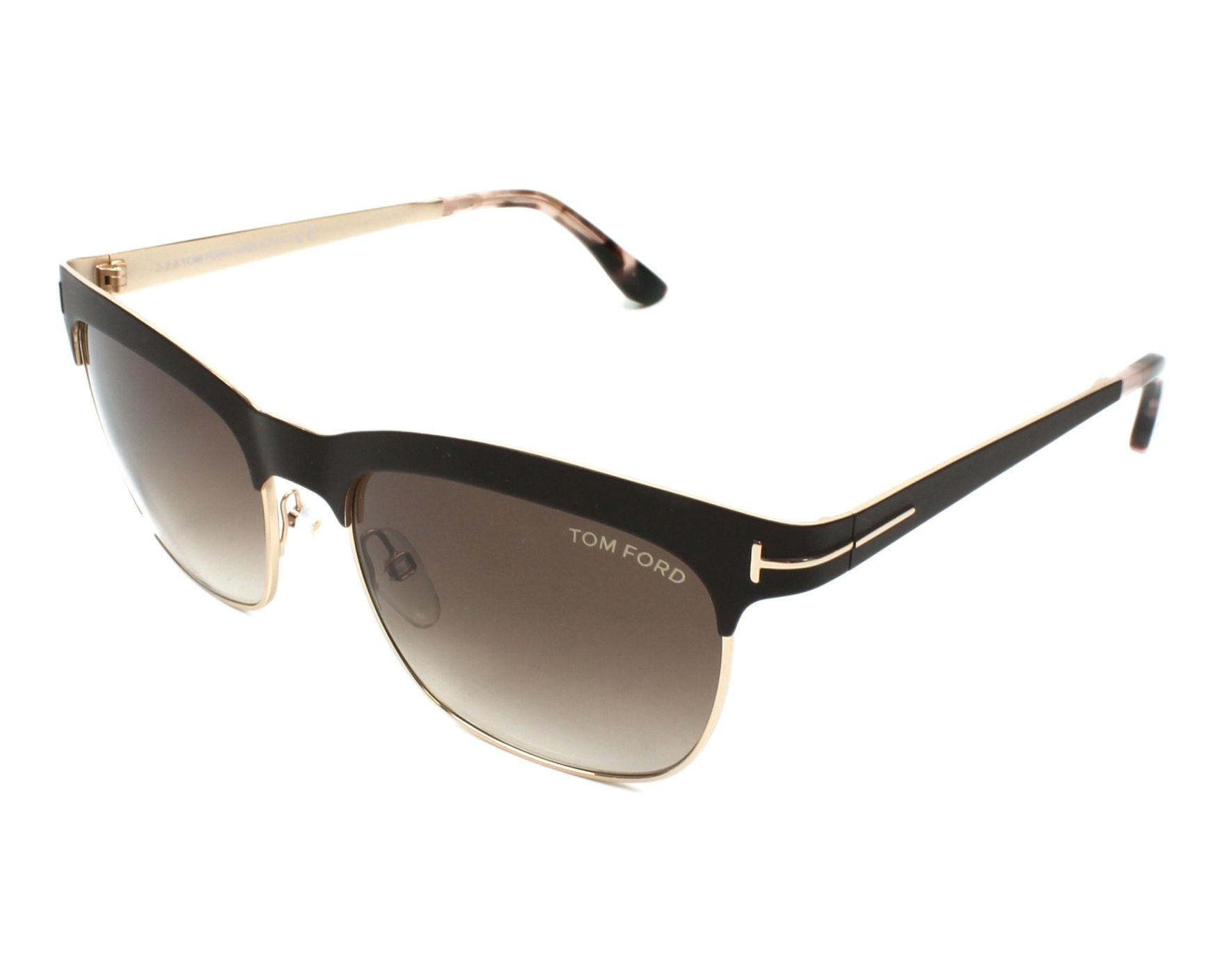 0c3840769869d Sunglasses Tom Ford TF-437 48F - Brown Gold profile view