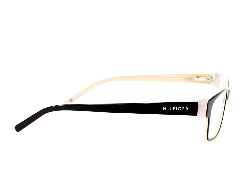 86b08d6b5f8 eyeglasses Tommy Hilfiger TH-1018 HDA 52-16 Black Beige side view