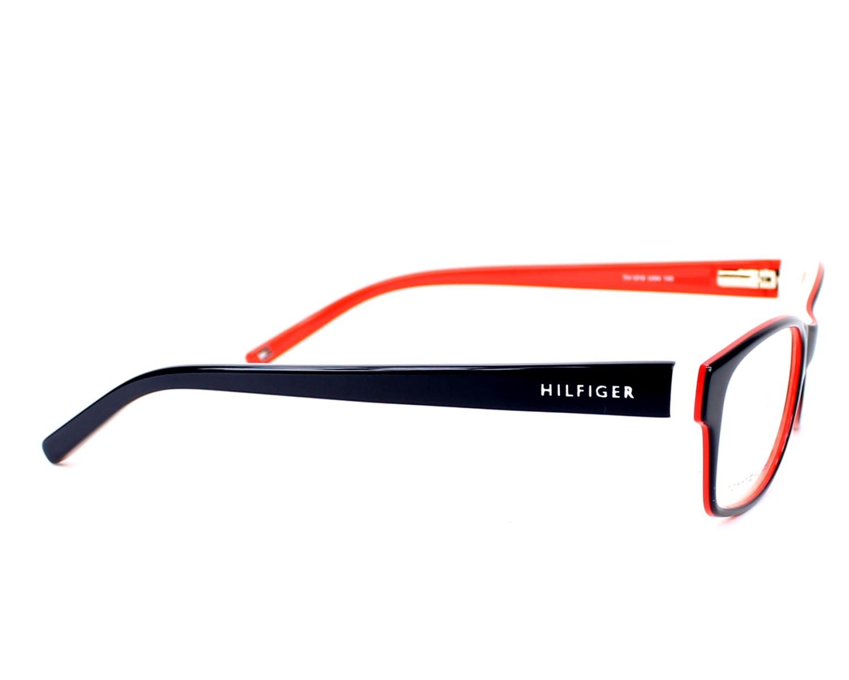 b3161464103 eyeglasses Tommy Hilfiger TH-1018 UNN 52-16 Blue Red side view
