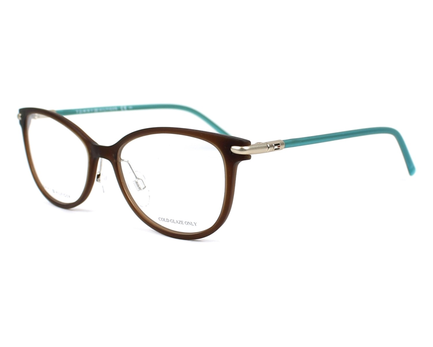 eyeglasses Tommy Hilfiger TH-1398 R2X 52-17 Brown Green profile view