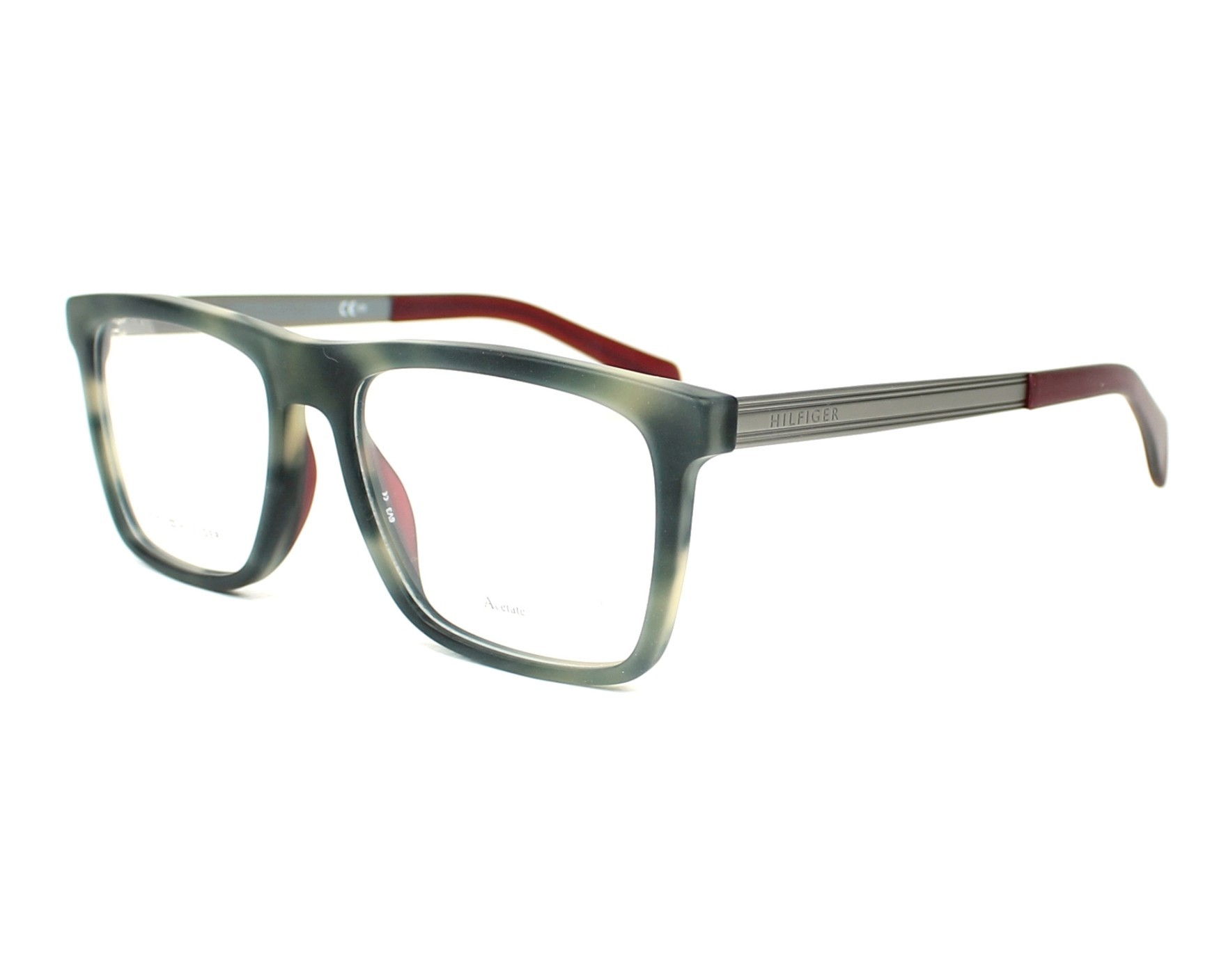 eyeglasses Tommy Hilfiger TH-1436 H7Y 53-17 Grey Ruthenium profile view 59d42f5c0b