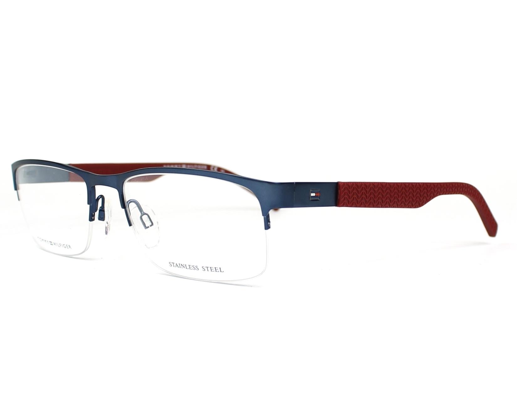 eyeglasses Tommy Hilfiger TH-1447 LL0 55-18 Blue Bordeaux profile view