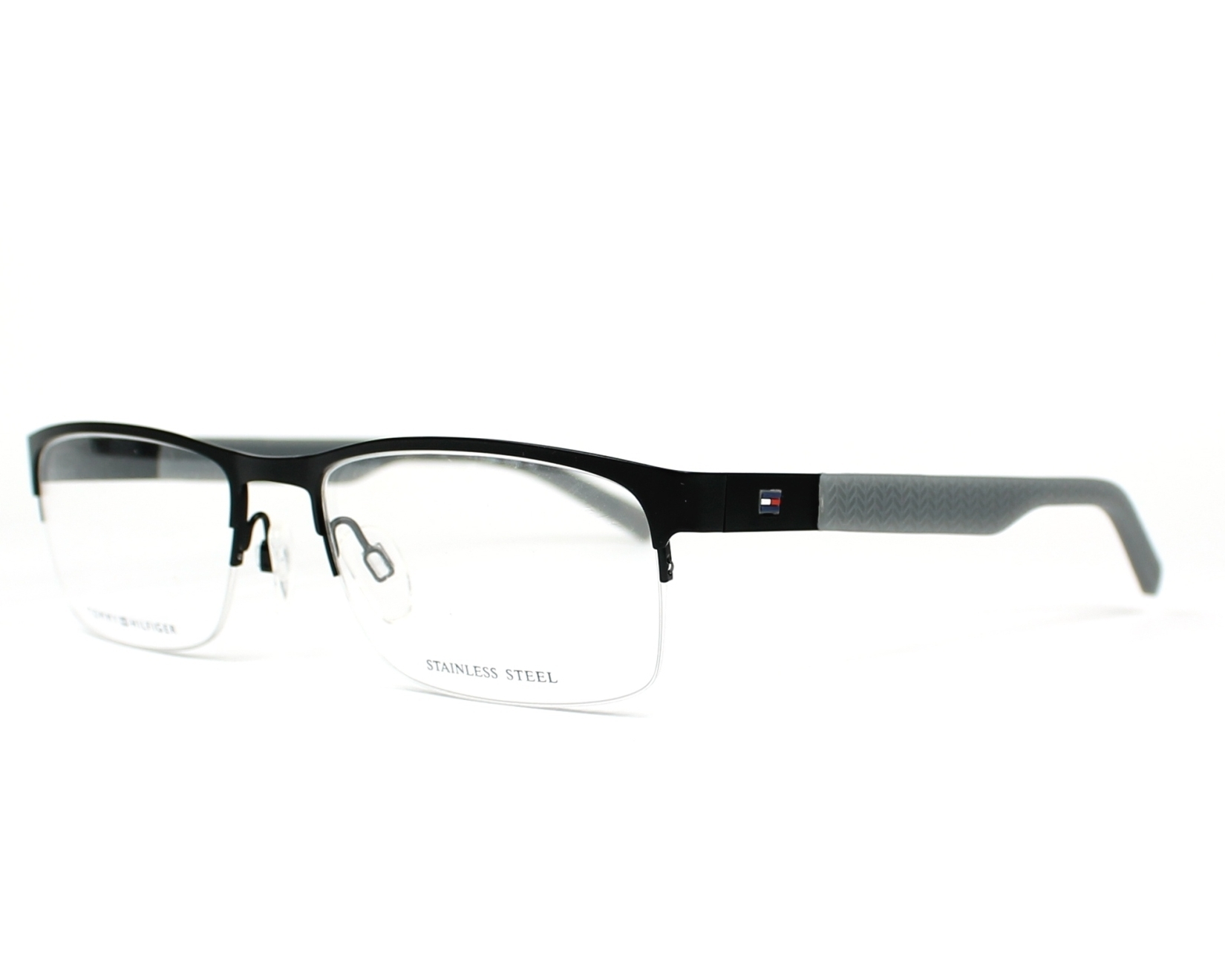 eyeglasses Tommy Hilfiger TH-1447 LOE 55-18 Black Grey profile view
