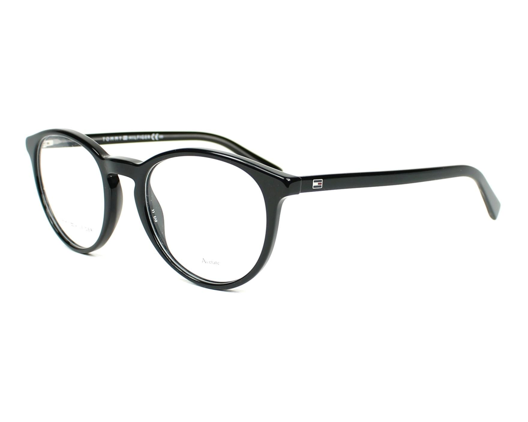 eyeglasses Tommy Hilfiger TH-1451 A5X 50-20 Black profile view