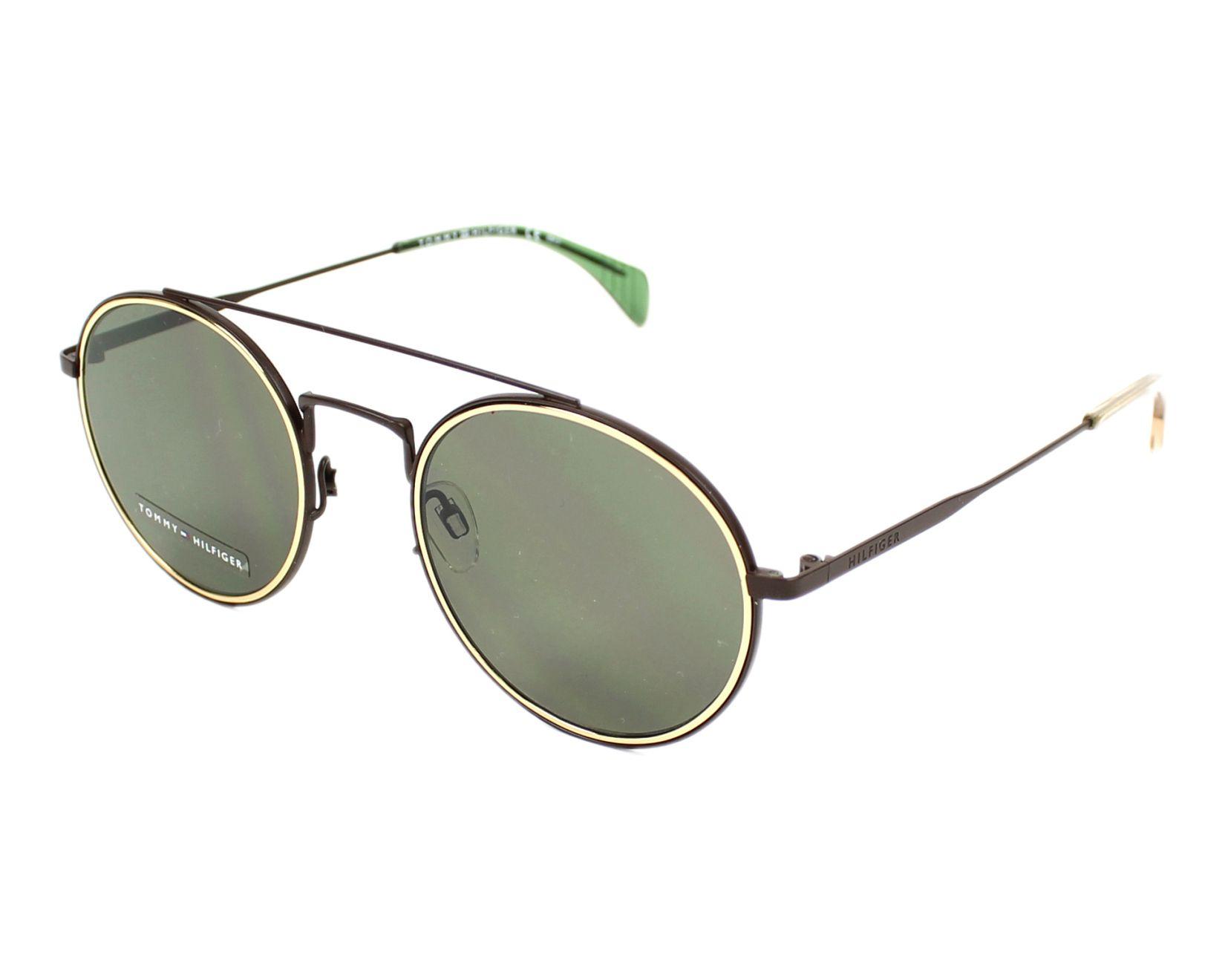 94d827ac86d30 Sunglasses Tommy Hilfiger TH-1455-S 2X3 70 53-22 Brown Gold