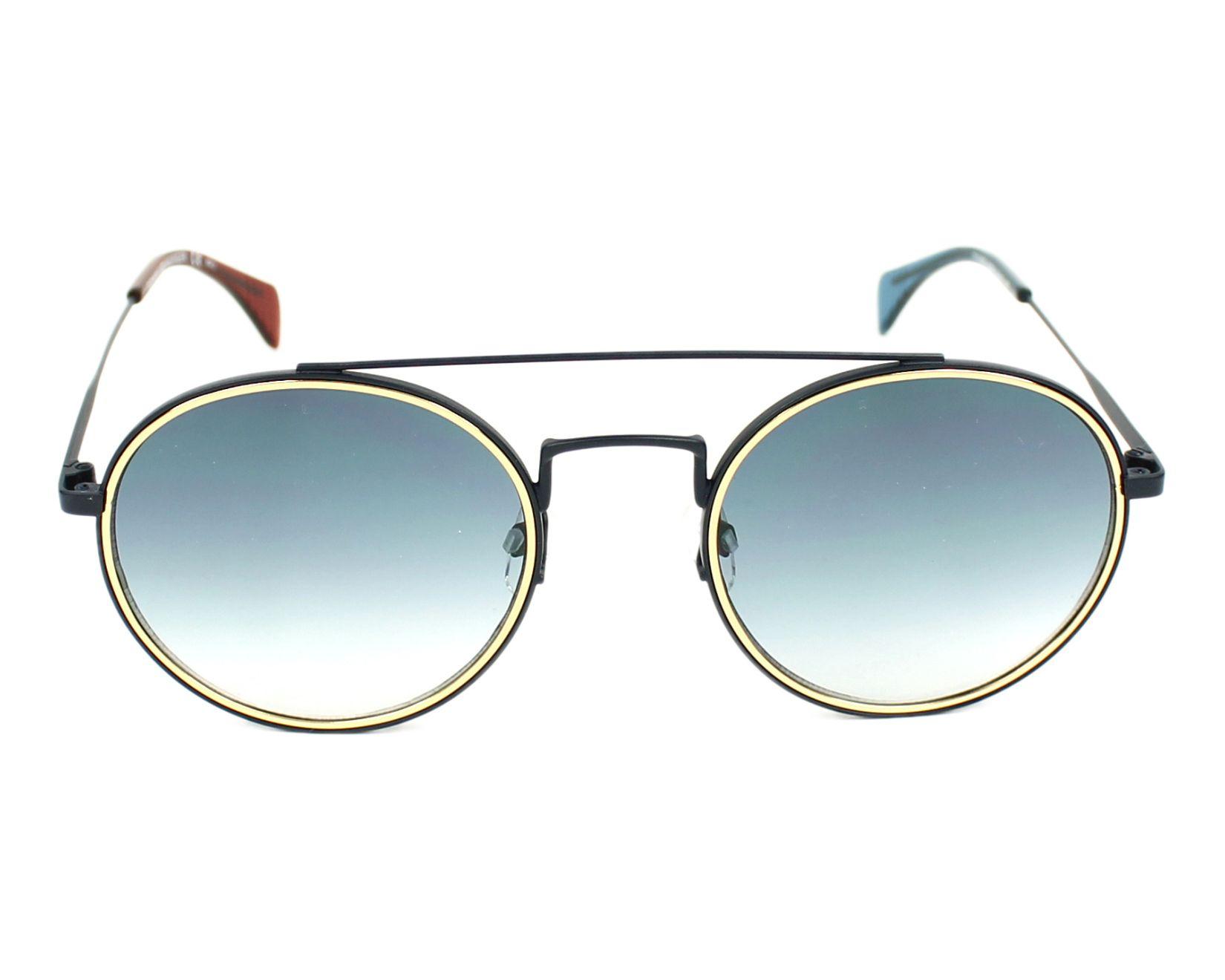 3bf39366bcf25 Sunglasses Tommy Hilfiger TH-1455-S BQZ 08 53-22 Blue Gold