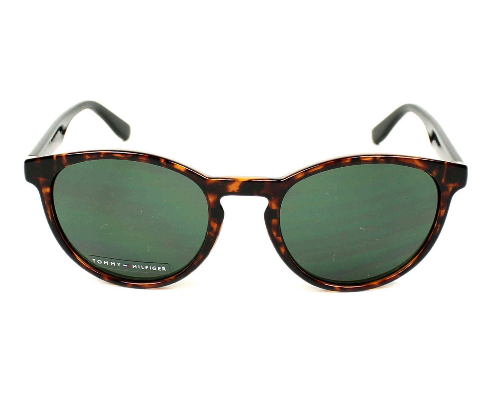 b076b43671 Sunglasses Tommy Hilfiger TH-1485-S 9N4 QT - Havana Black front view