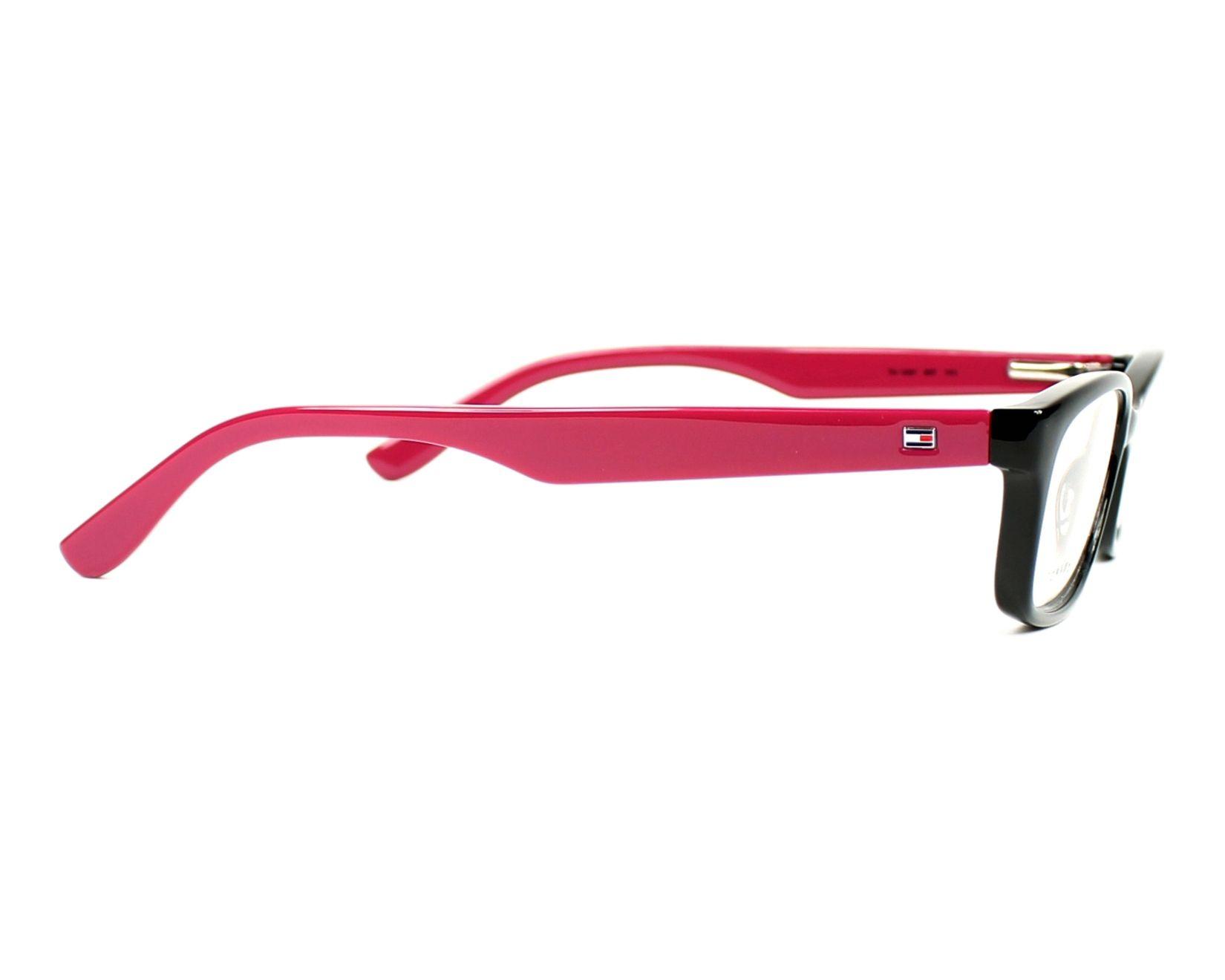 eyeglasses Tommy Hilfiger TH-1491 807 53-15 Black Pink side view 1ef2e42c61c