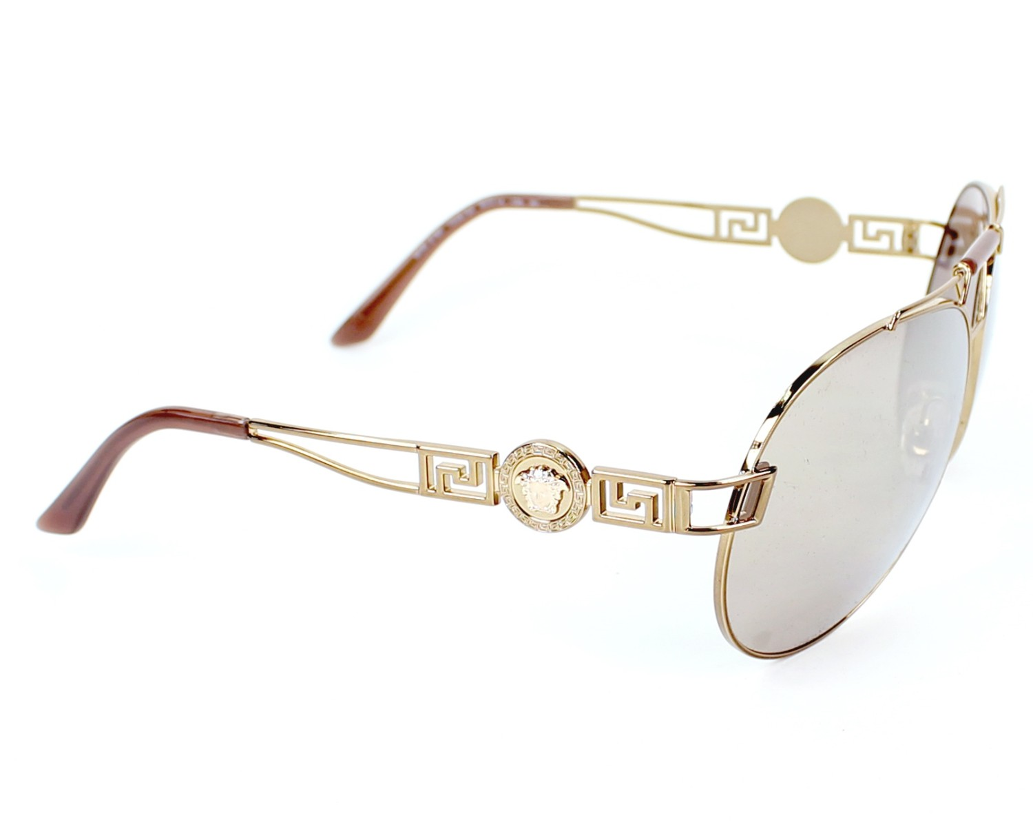 832614470e Sunglasses Versace VE-2160 1348 5A 63-14 Gold side view