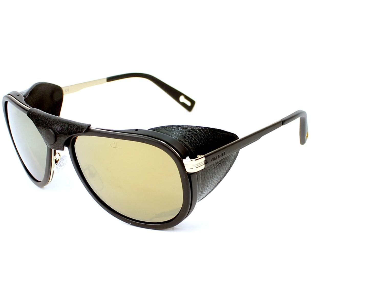 db7e9c9094 Sunglasses Vuarnet VL-1315 0008-2124 60-19 Black Gold profile view