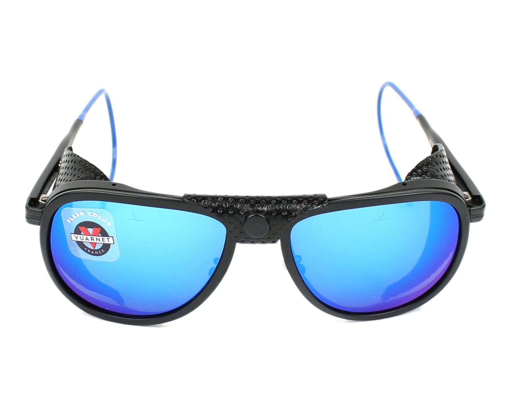 f993809c51 Sunglasses Vuarnet VL-1315 0011-1126 55-14 Black Blue front view