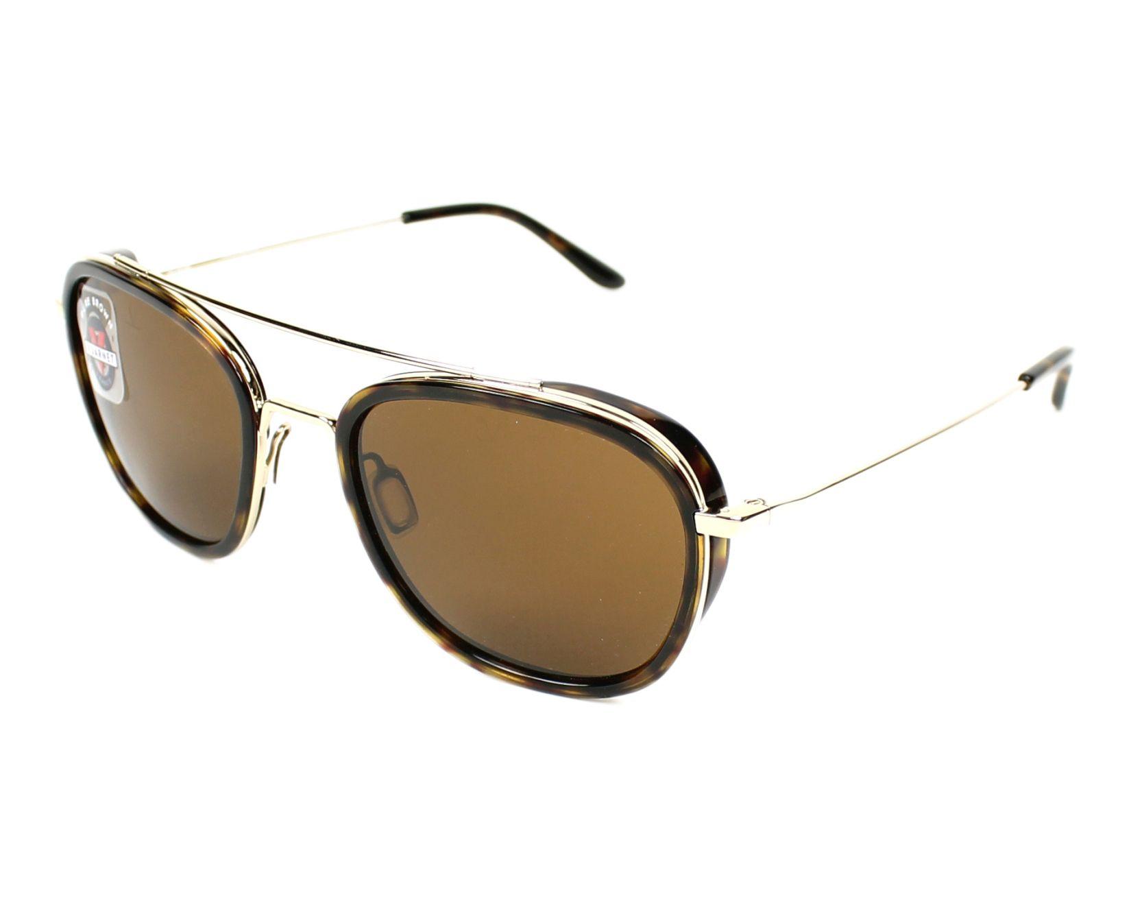 Sunglasses Vuarnet VL-1615 0002-2121 50-18 Gold Havana profile view 20218f6ac858