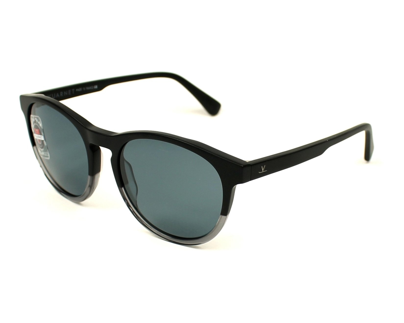df60e58e4b3 Polarized. Sunglasses Vuarnet VL-1616 0002-0622 51-17 Black Black profile  view