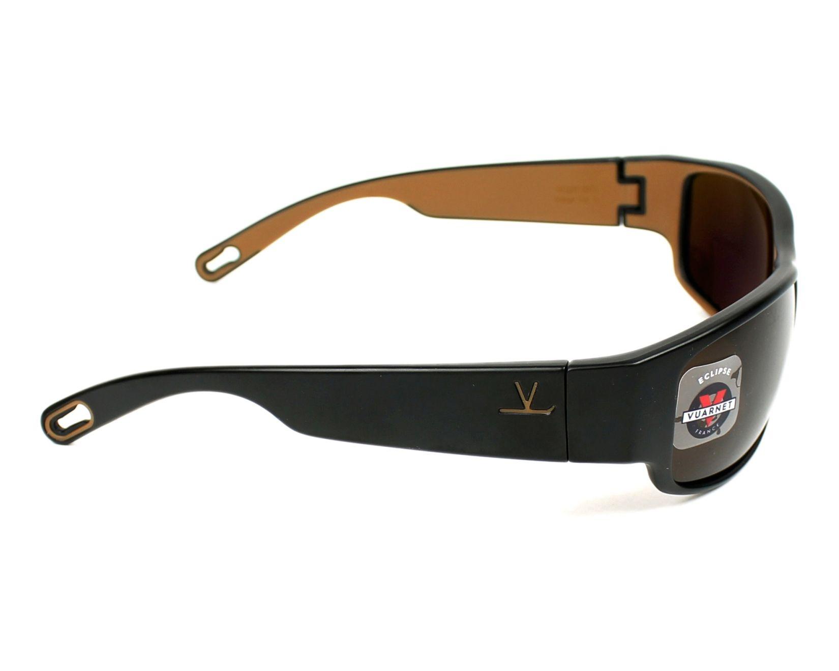 00e01f1f6e Sunglasses Vuarnet VL-1621 0001-2182 65-17 Black Brown side view