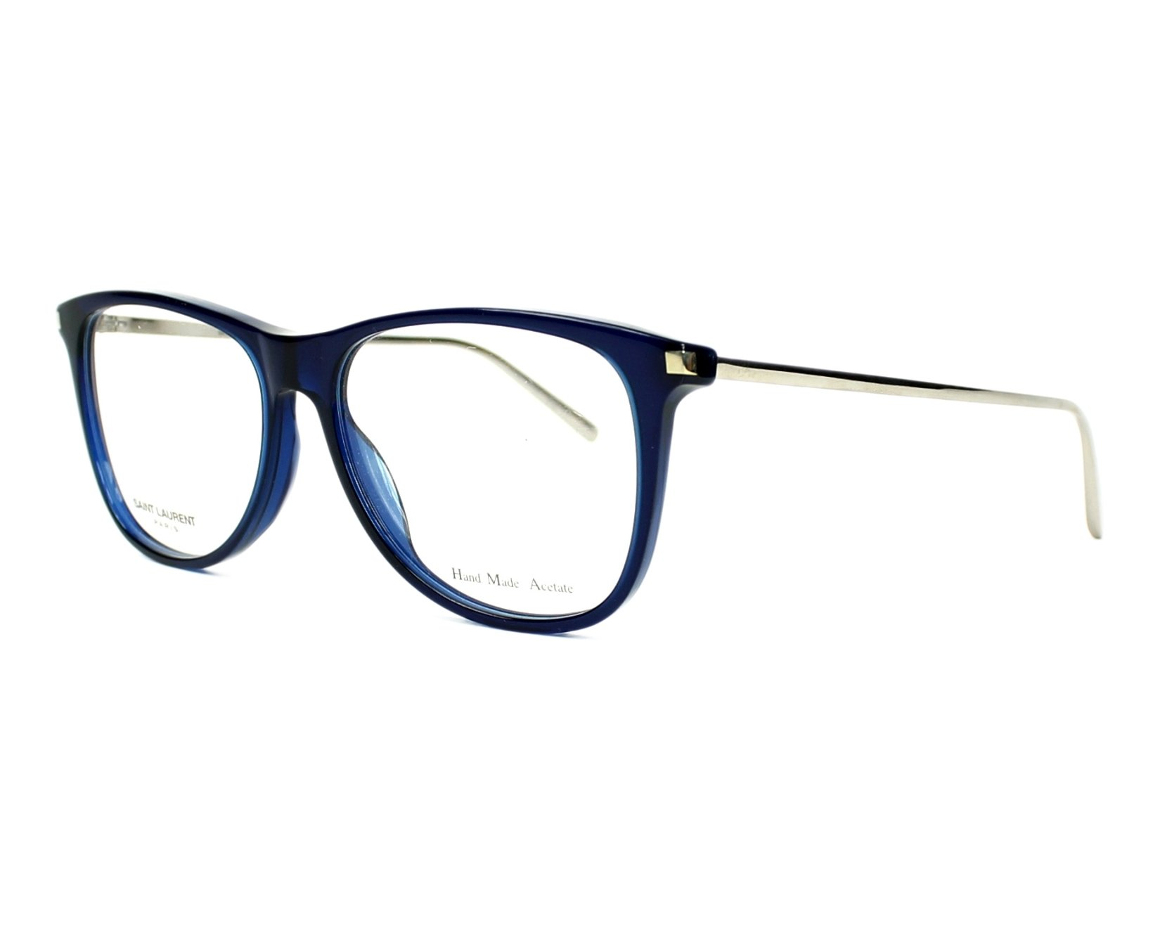 75aa9e9a60a eyeglasses Yves Saint Laurent SL-79 BJJ 55-15 Blue Silver profile view