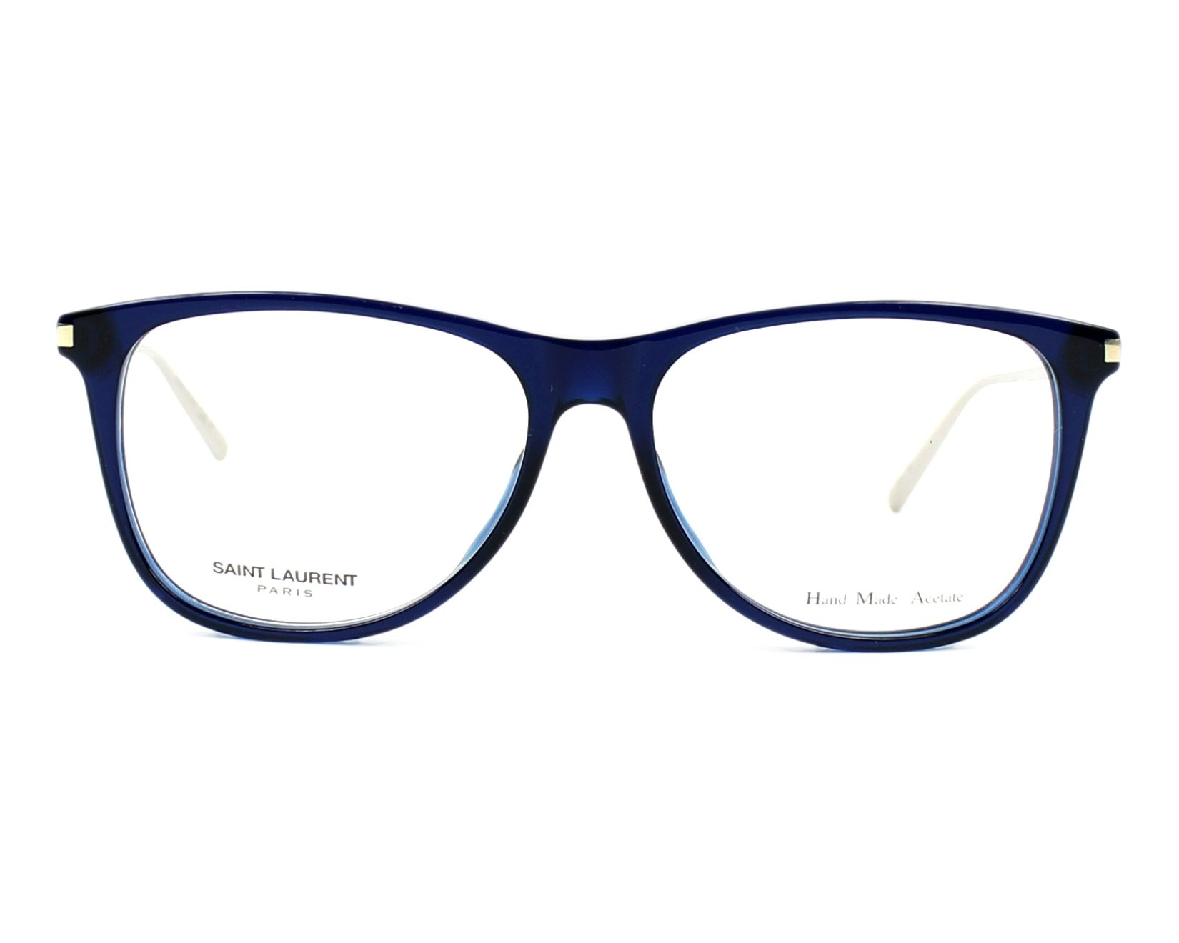 795ee43177a eyeglasses Yves Saint Laurent SL-79 BJJ 55-15 Blue Silver front view