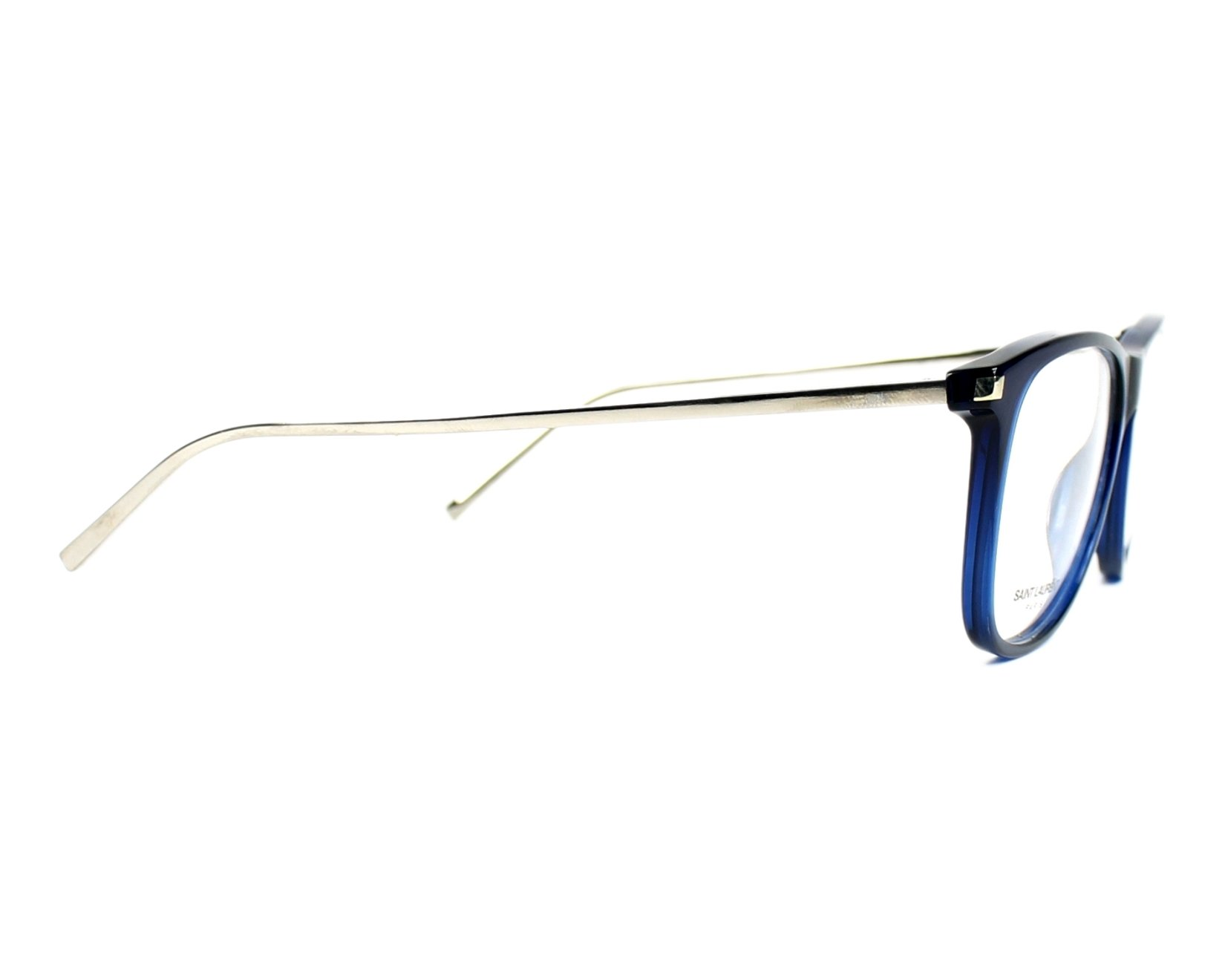 2289065b9e8 eyeglasses Yves Saint Laurent SL-79 BJJ 55-15 Blue Silver side view