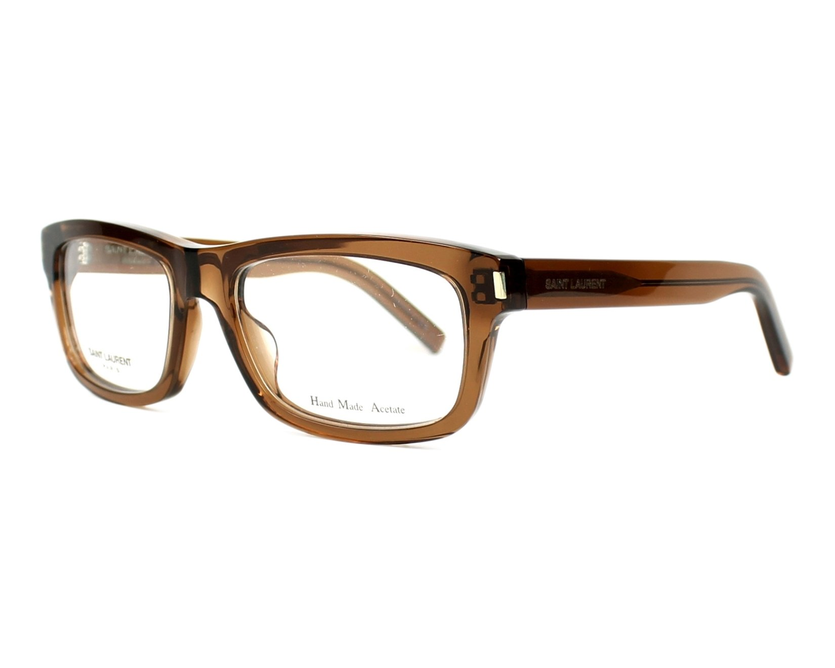 Yves saint laurent eyeglasses yves 1 k7m brown visio for Miroir yves saint laurent
