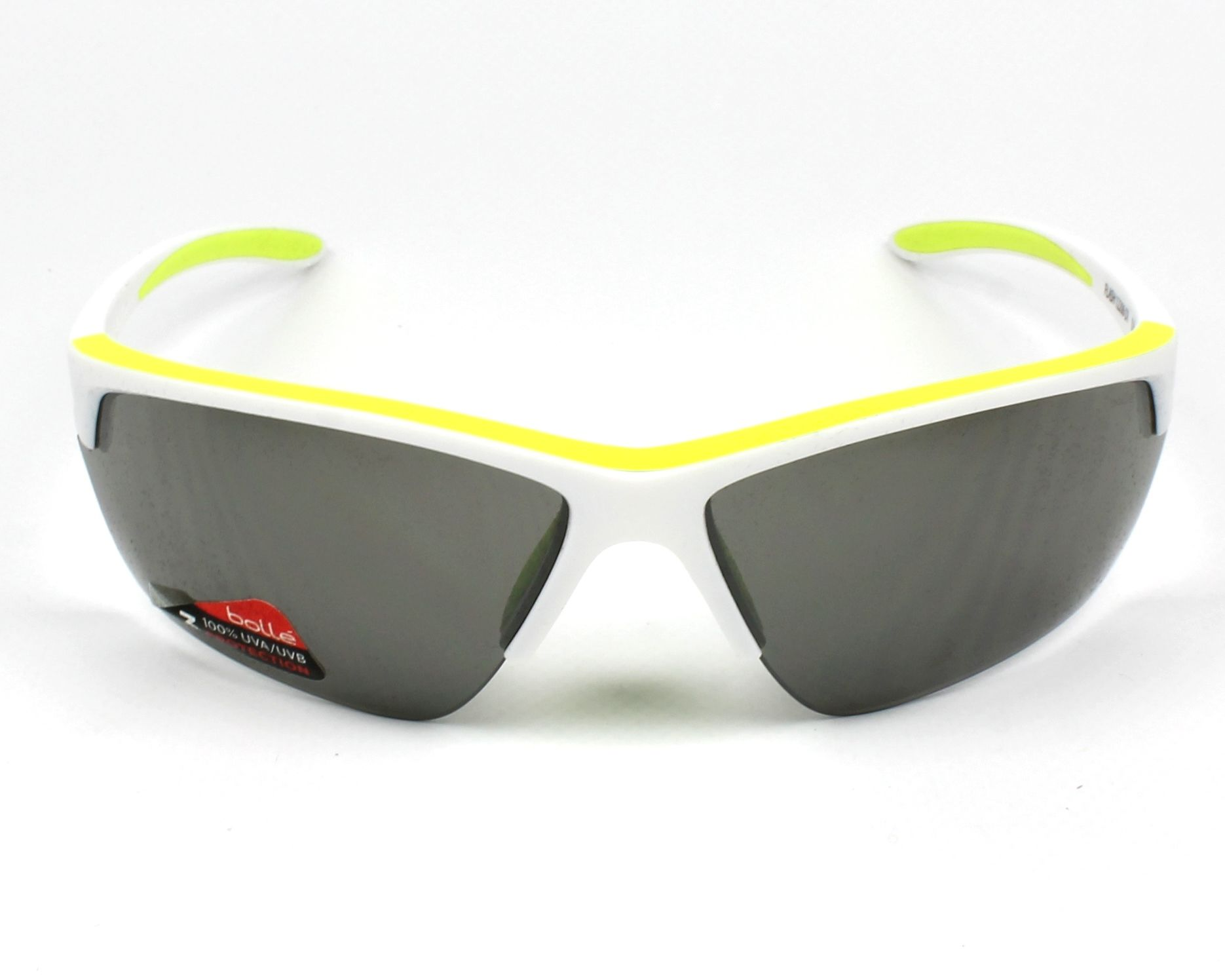 Sunglasses Bollé FLASH 12206 70-17 White Yellow front view