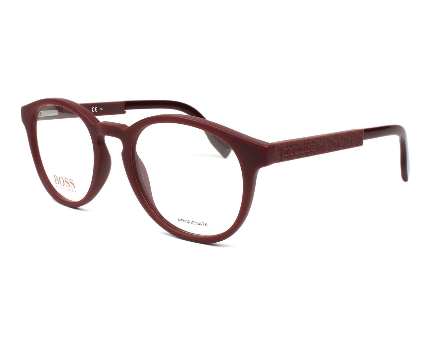 Boss Orange Eyeglasses Bordeaux BO-0283 C9A - Visionet US
