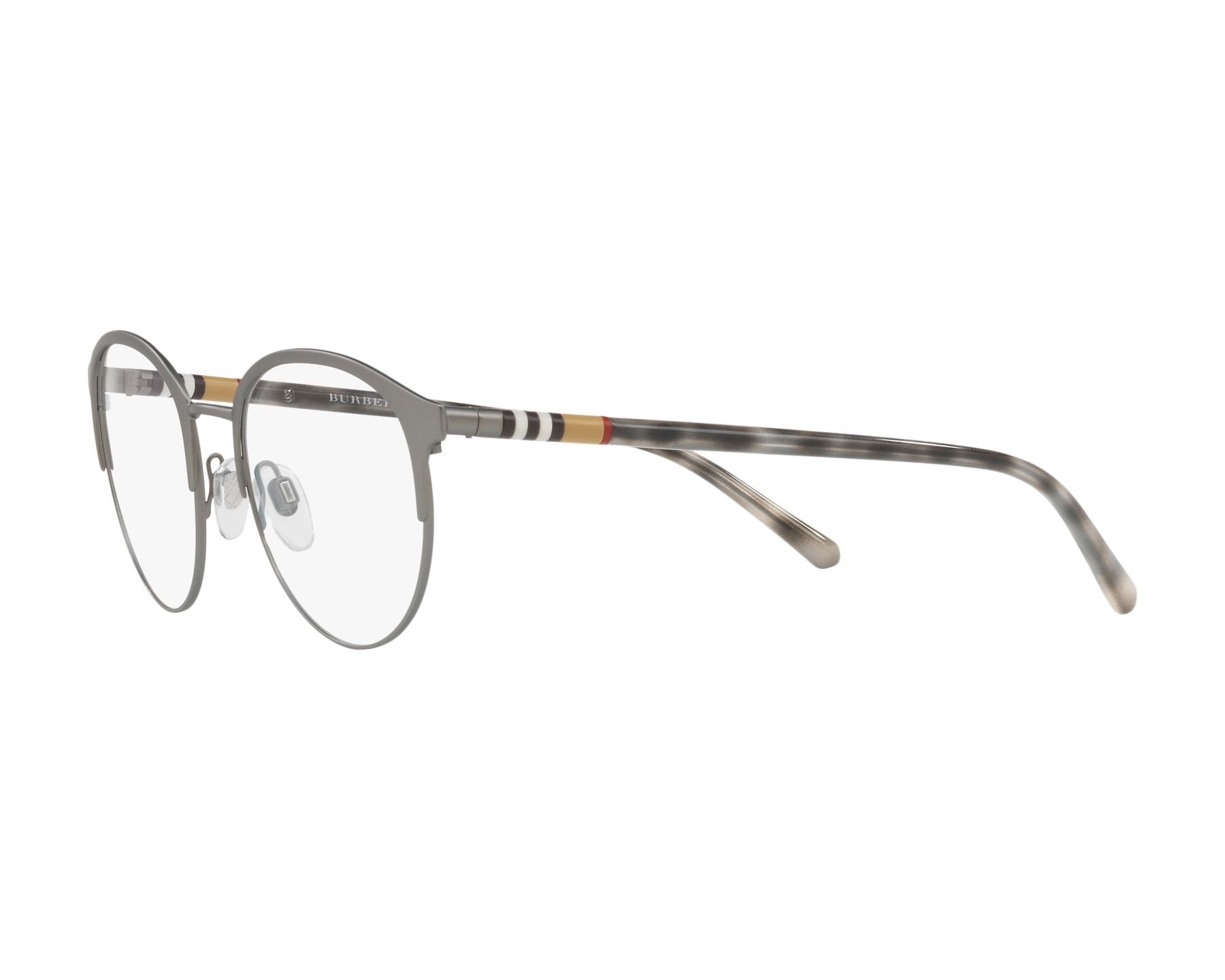 eyeglasses Burberry BE-1318 1014 51-19 Gun Grey 360 degree view 3