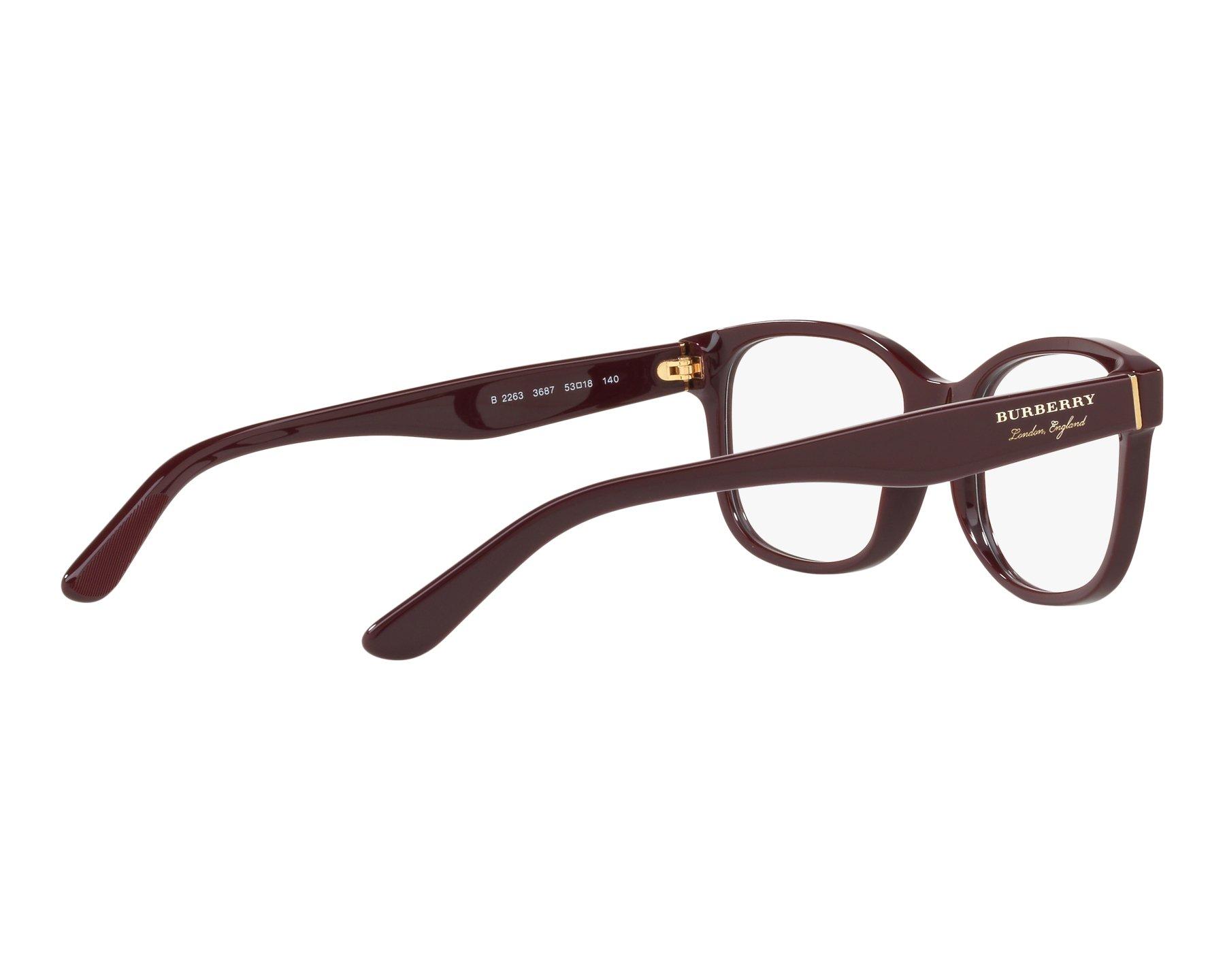 eyeglasses Burberry BE-2263 3687 51-18 Bordeaux 360 degree view 9 a14a5e73305d