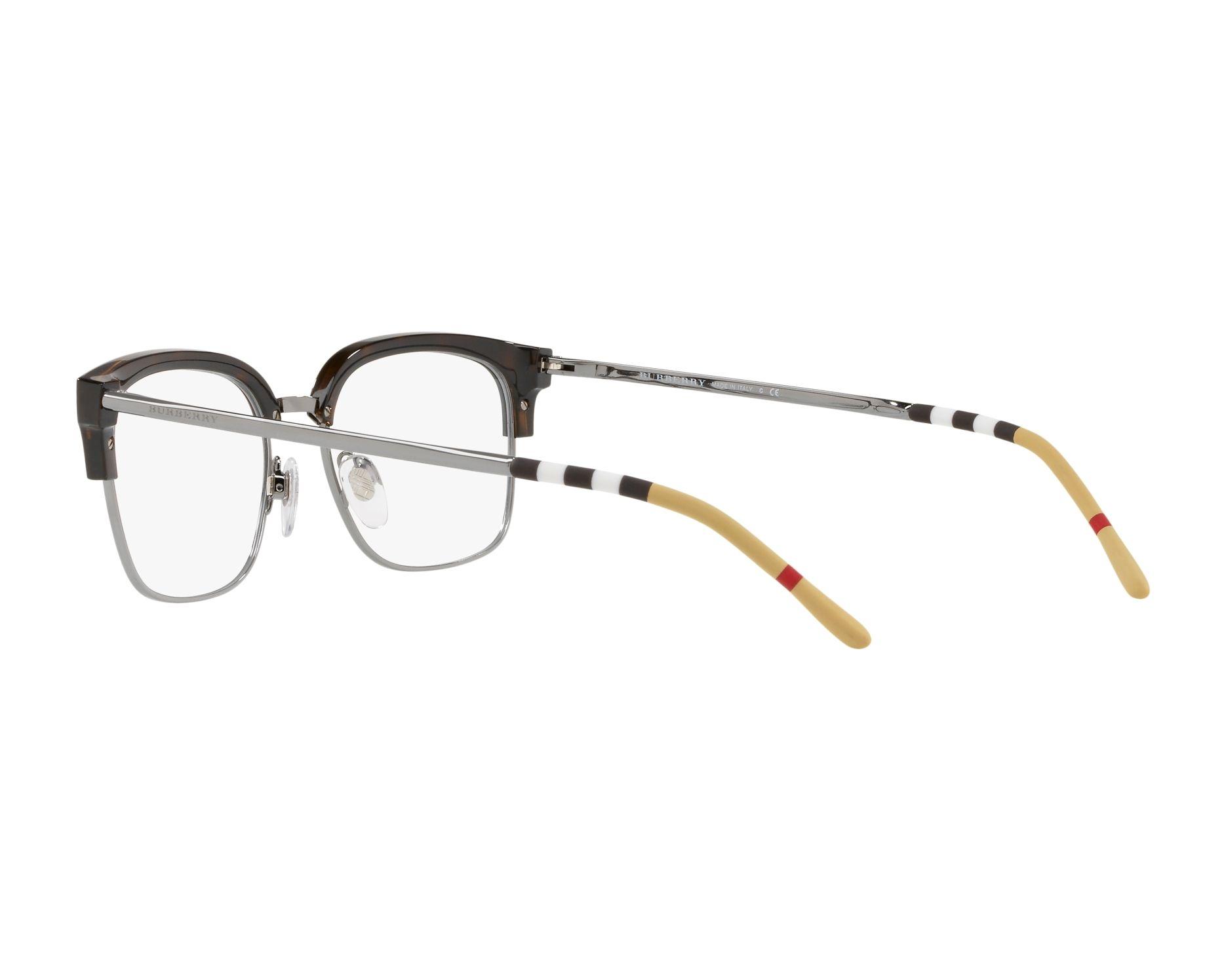 eyeglasses Burberry BE-2273 3002 54-18 Havana Gun 360 degree view 5