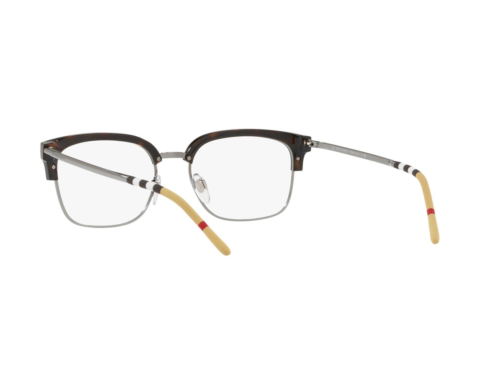 eyeglasses Burberry BE-2273 3002 54-18 Havana Gun 360 degree view 6