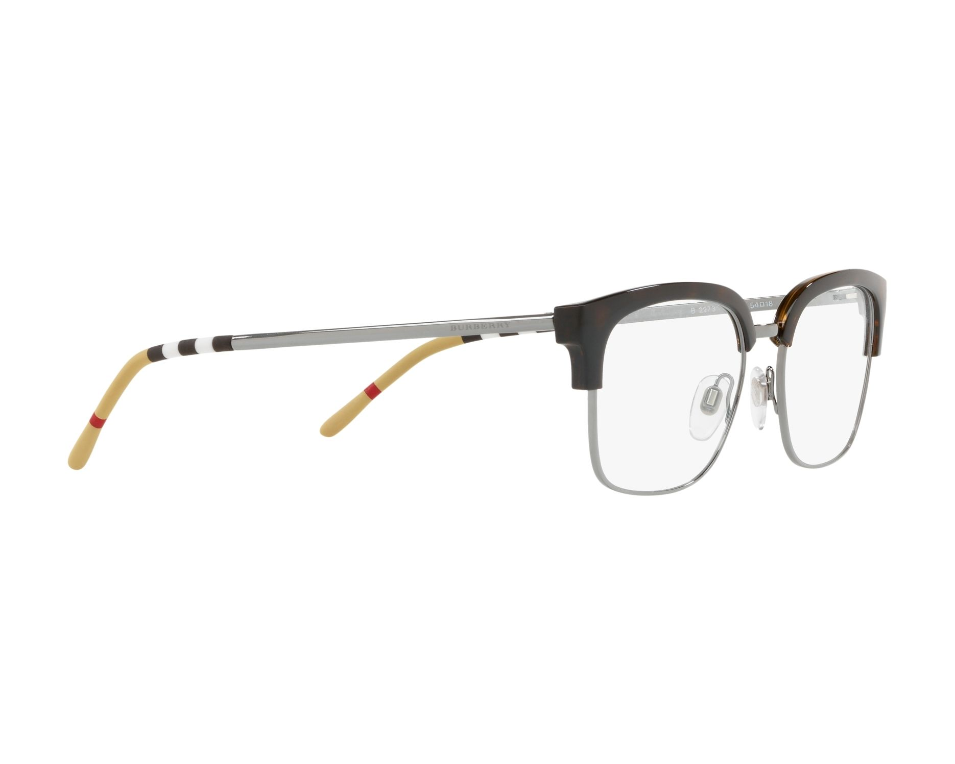 eyeglasses Burberry BE-2273 3002 54-18 Havana Gun 360 degree view 11