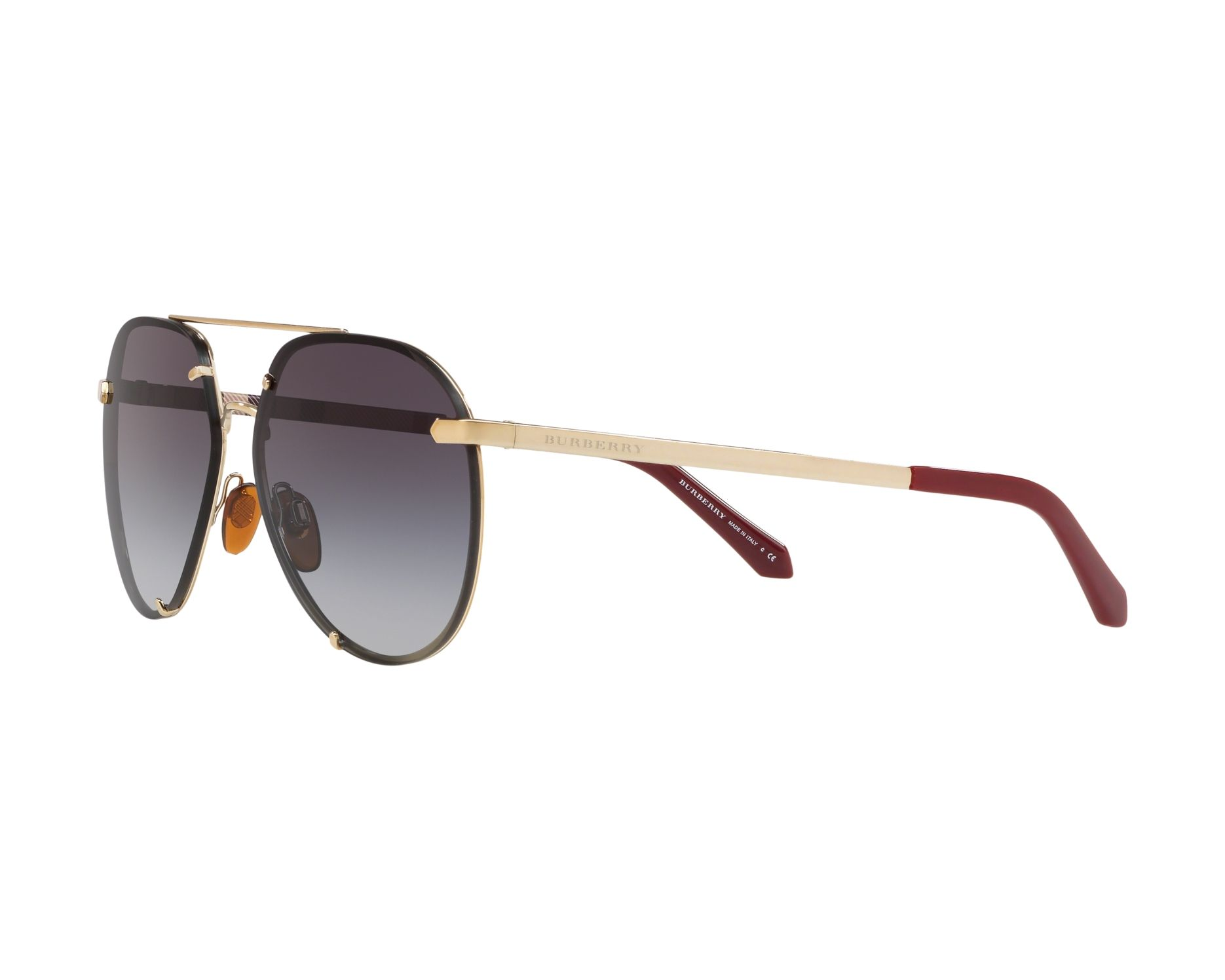 f947bc7821 Sunglasses Burberry BE-3099 11458G 61-14 Gold 360 degree view 3