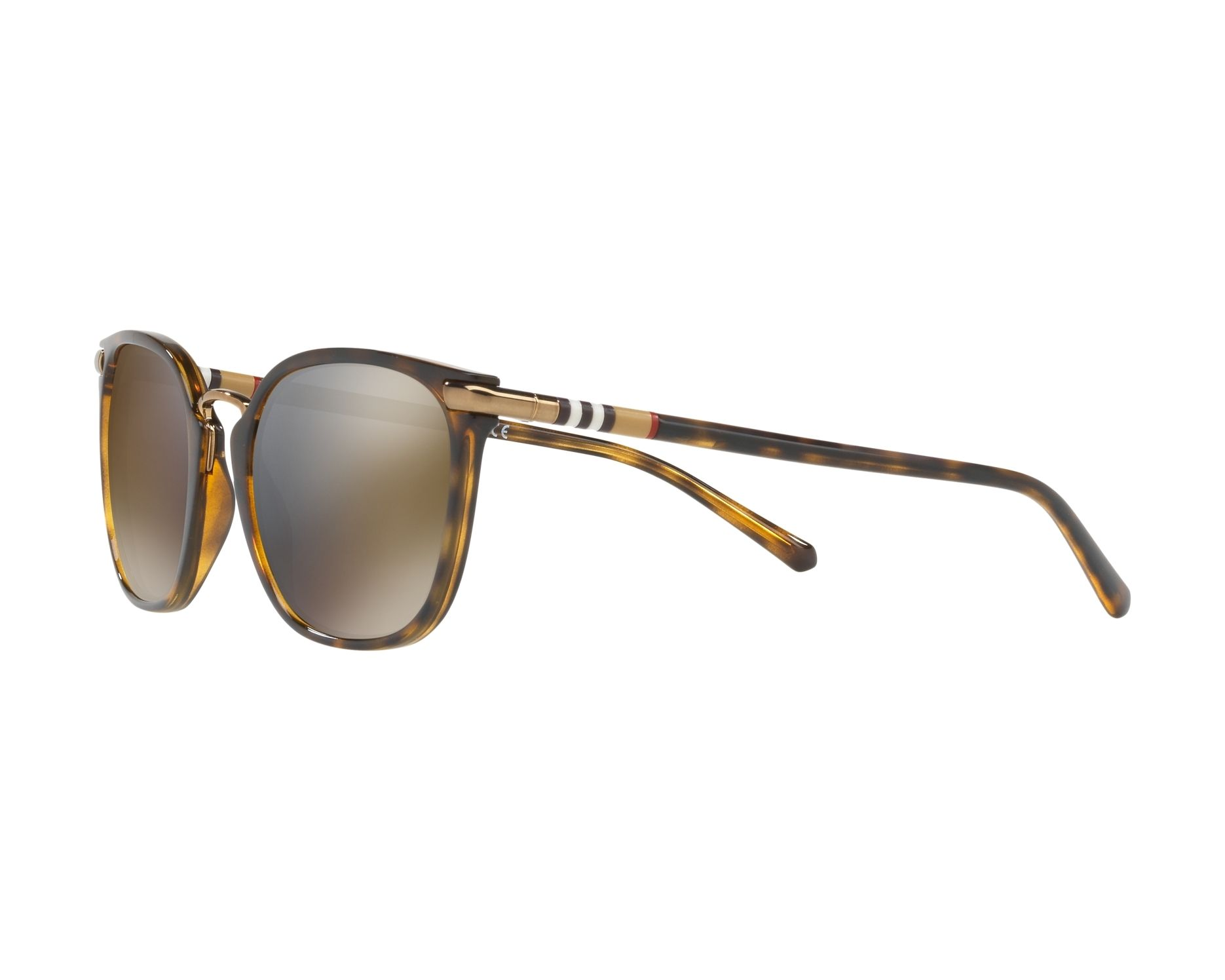 5a0b332dc0 Sunglasses Burberry BE-4262 30024T 53-21 Havana 360 degree view 3