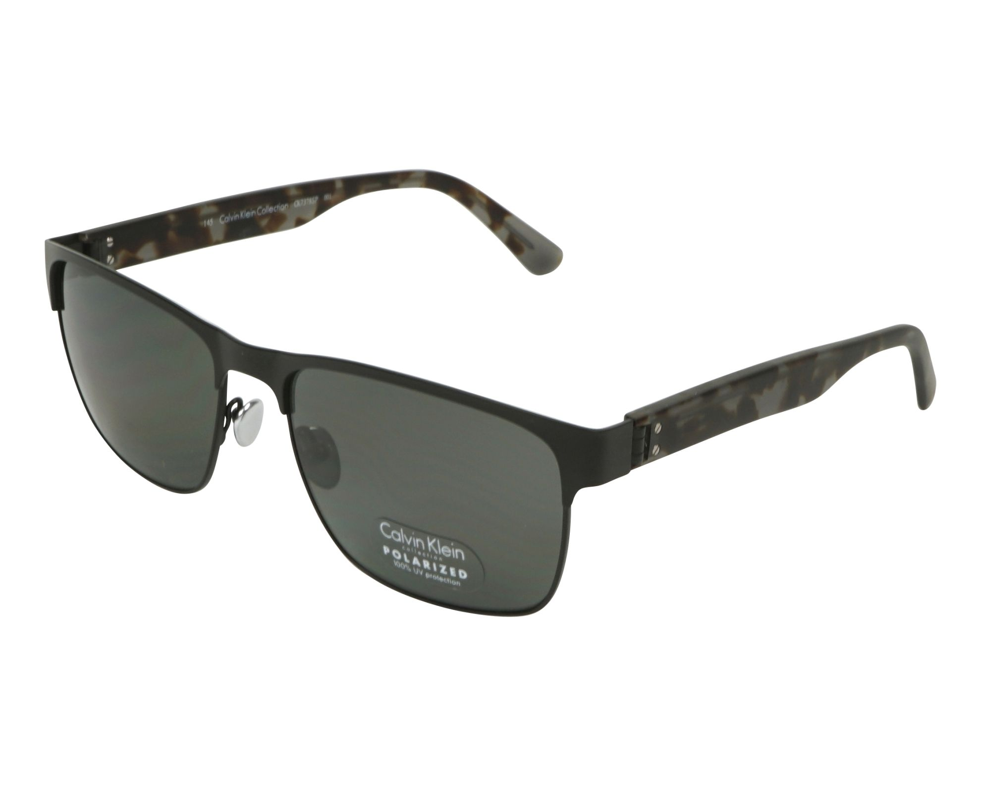 9004b90e41 Polarized. Sunglasses Calvin Klein CK-7378-S-P 001 - Black Brown profile  view
