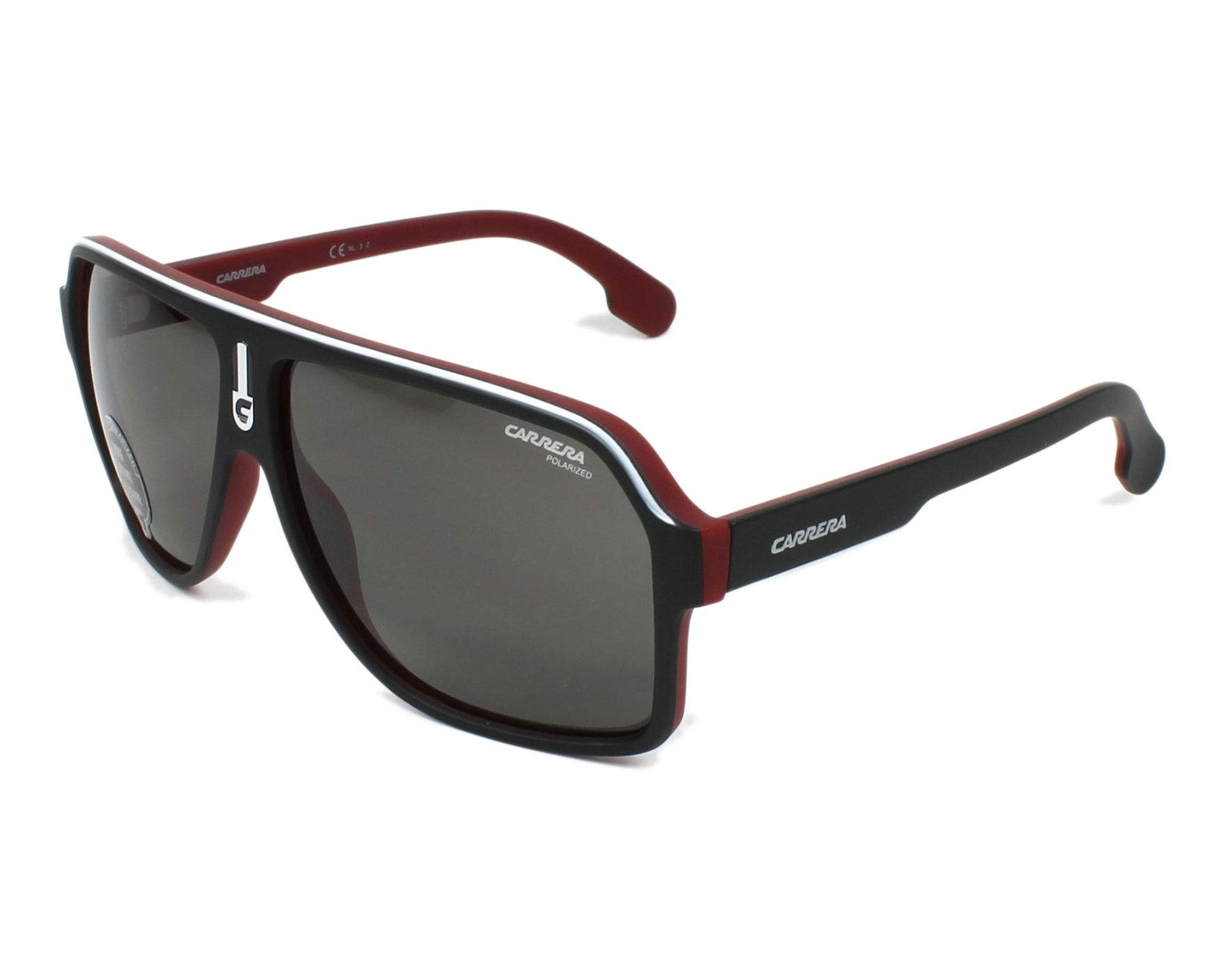 31779d7703bc Sunglasses Carrera 1001-S BLX/M9 62-11 Black Bordeaux profile view