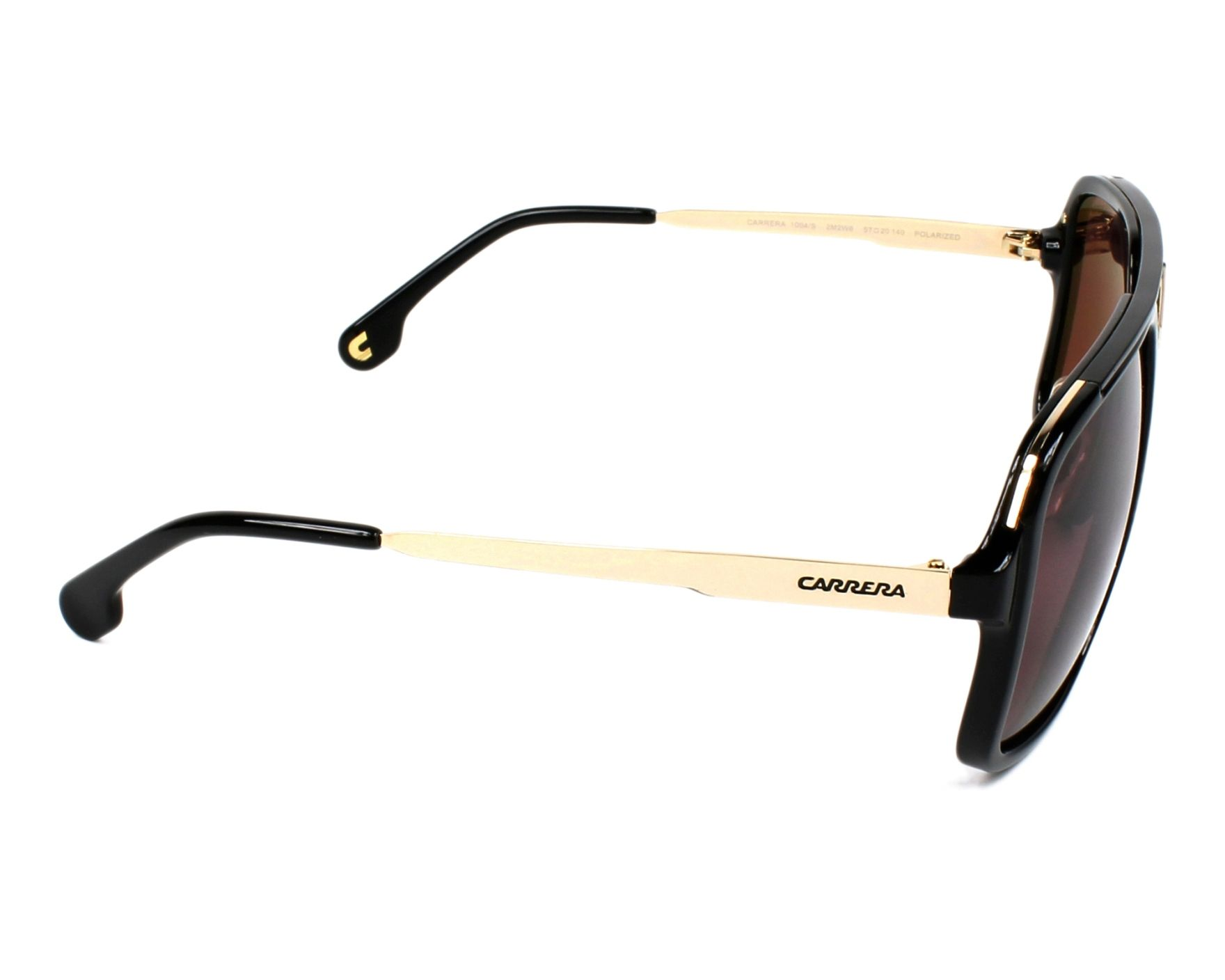 0d2fd6caa0c Sunglasses Carrera 1004-S 2M2 W6 57-20 Black Gold side view