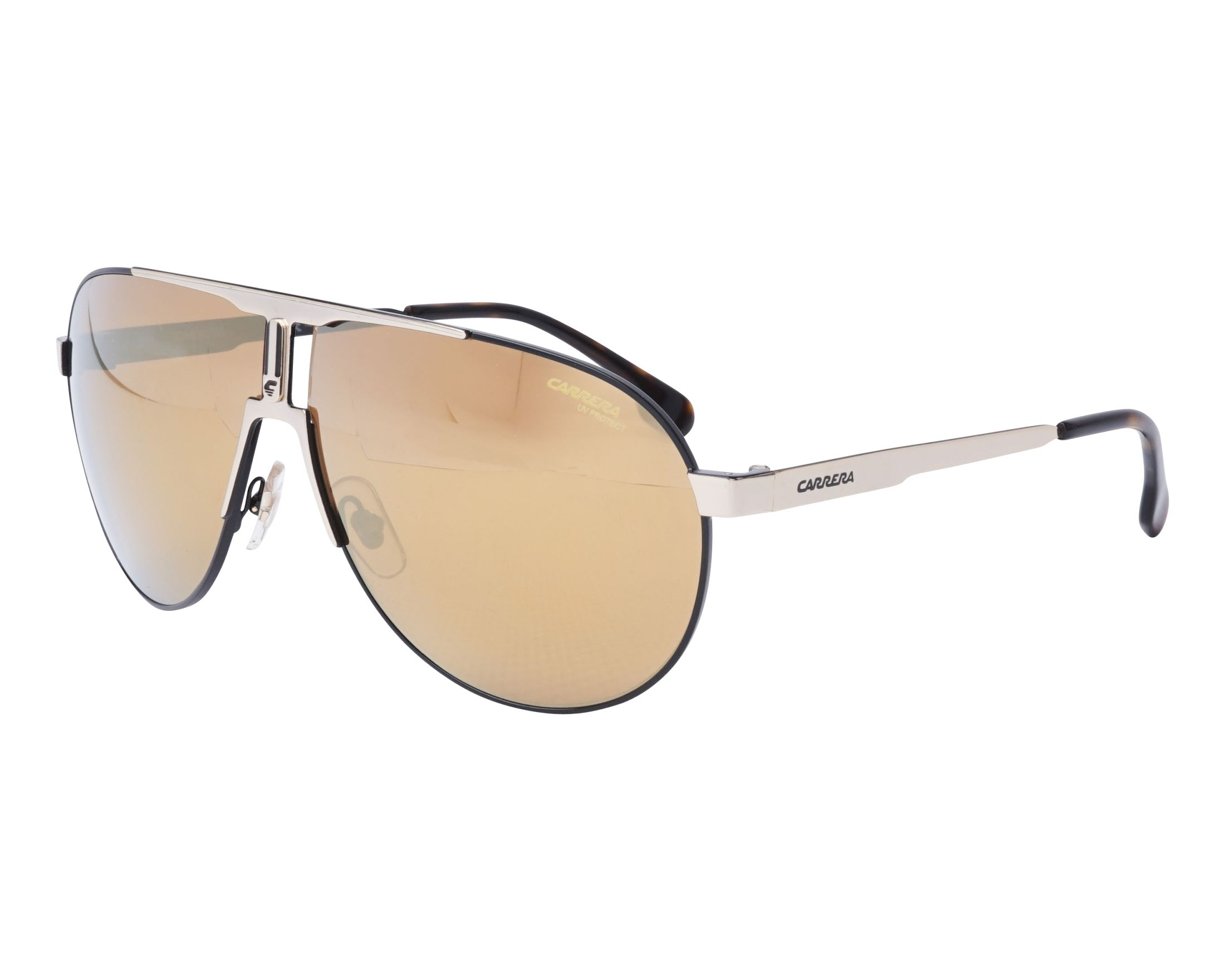 Sunglasses Carrera 1005-S XWYK1 66-9 Gold Black profile view d74118a7213