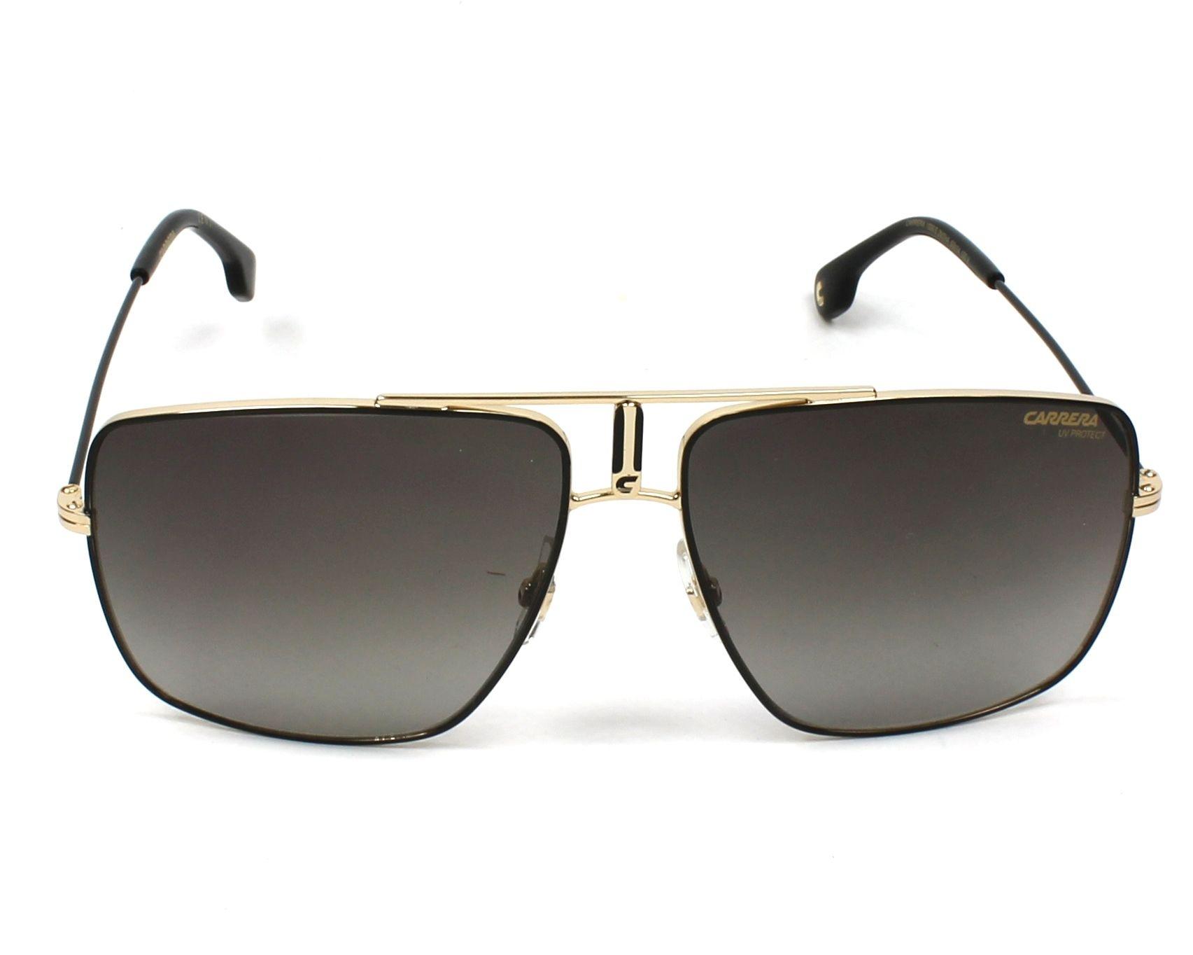 4cccd328731c15 Sunglasses Carrera 1006-S 2M2 HA 60-14 Black Gold front view