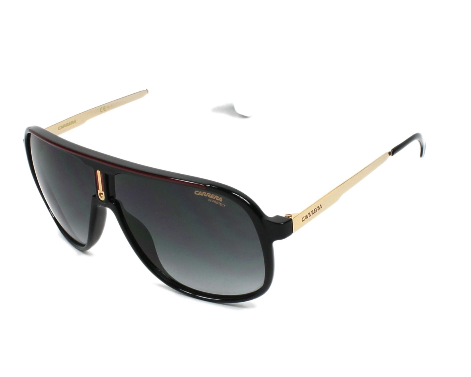 7e9af14fa0a21 Sunglasses Carrera 1007-S 807 9O 62-10 Black Gold profile view