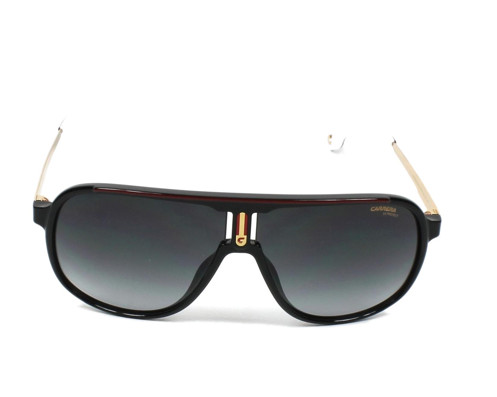 46477b01ecc3c Sunglasses Carrera 1007-S 807 9O 62-10 Black Gold front view