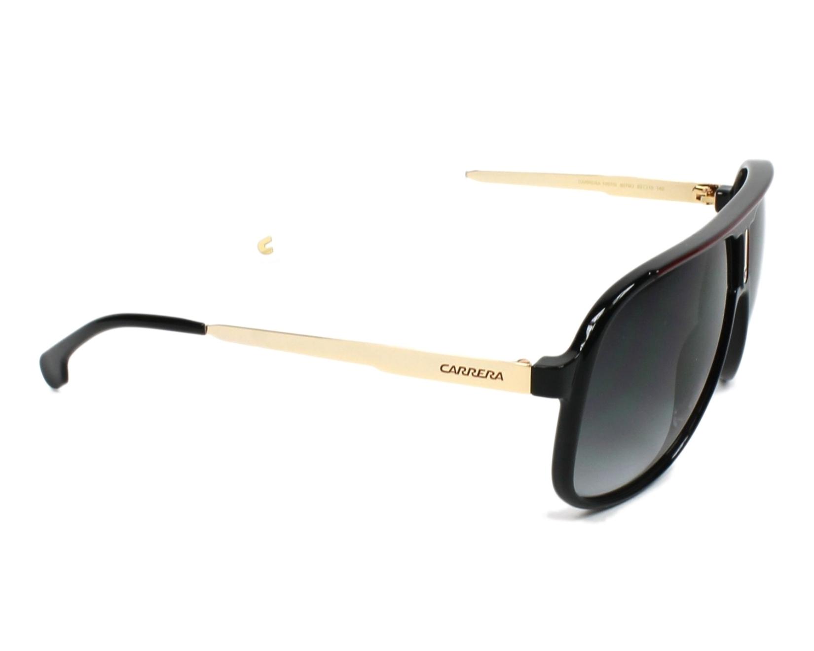 02328319f313c Sunglasses Carrera 1007-S 807 9O 62-10 Black Gold side view